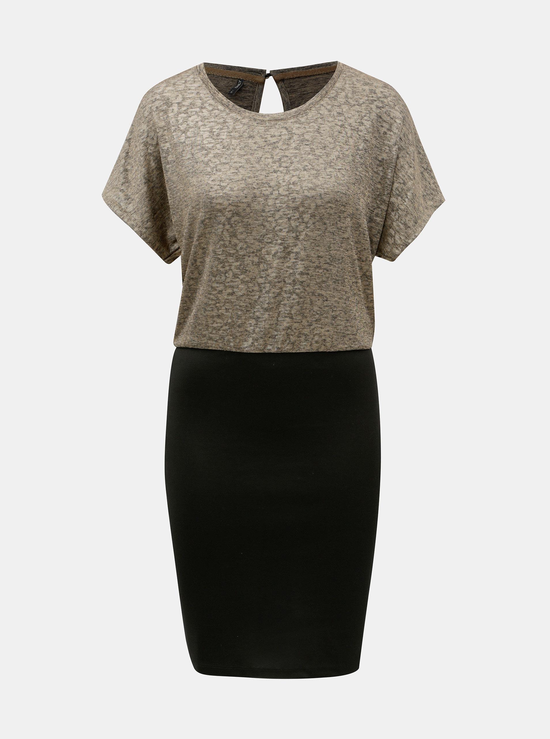 Pouzdrové šaty v černé a zlaté barvě ONLY Plearl ... 2bd5d81df0