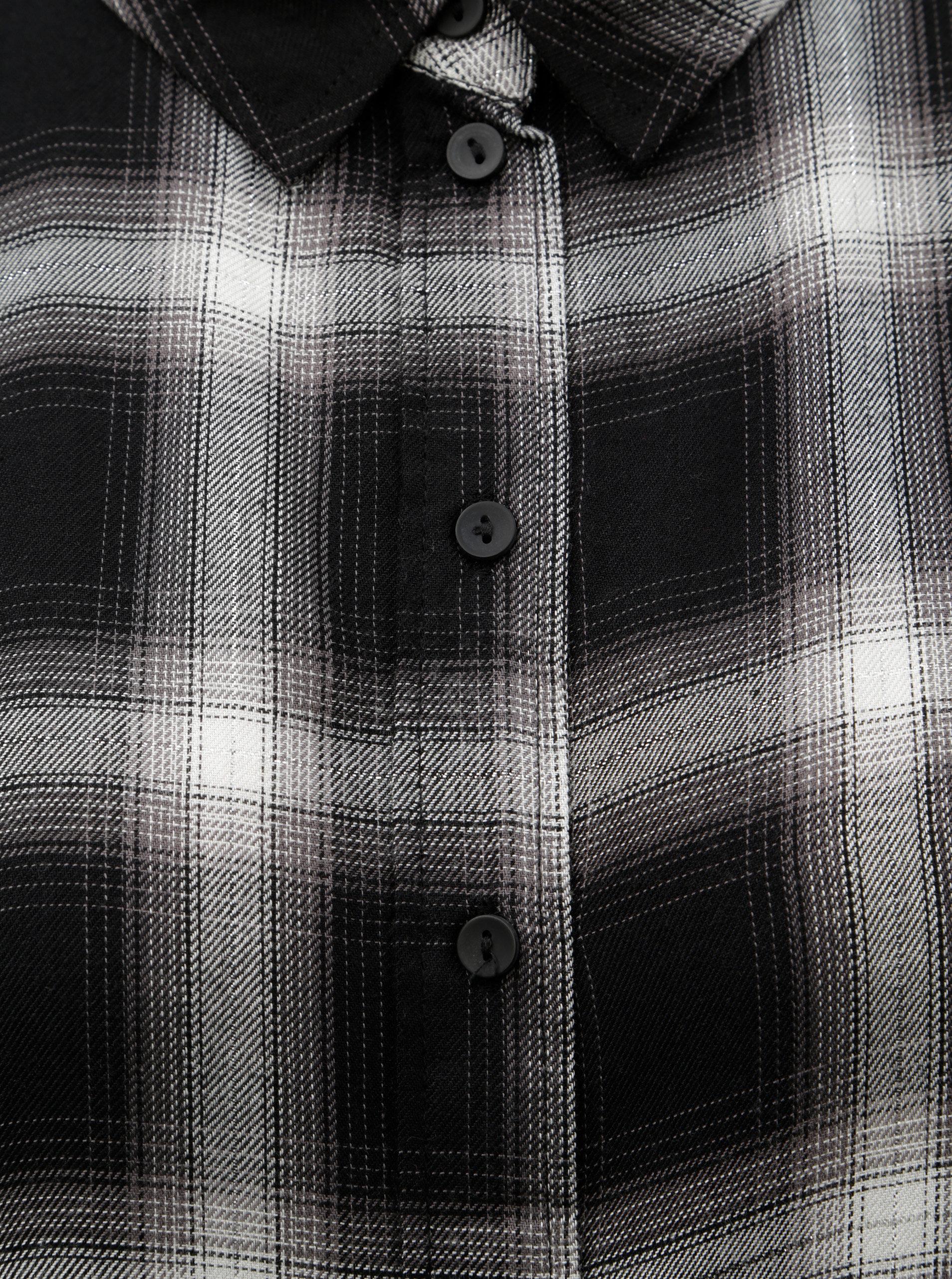 Bílo-černá kostkovaná košile s metalickým vláknem Jacqueline de Yong Frans  ... c7f747e7db