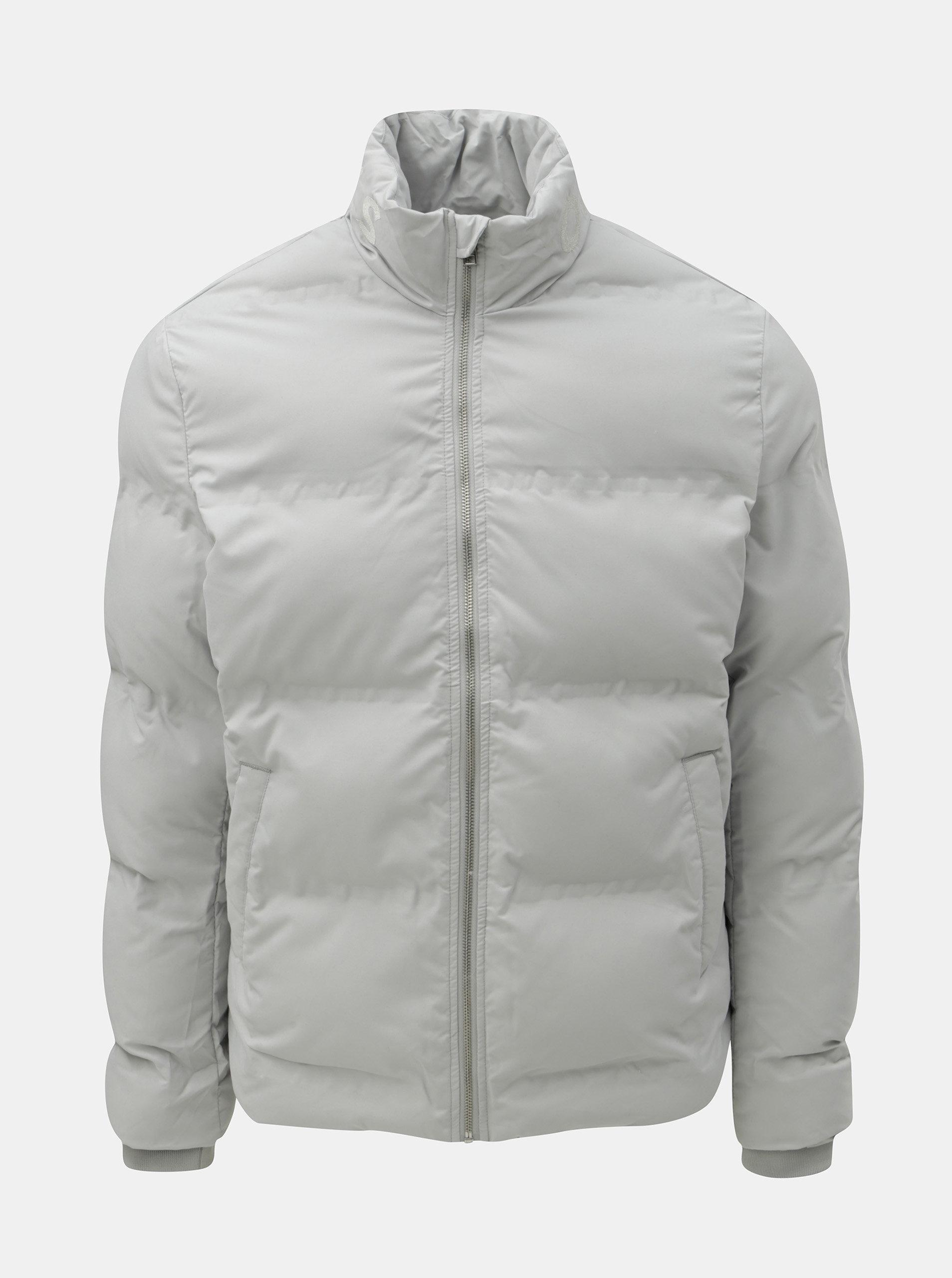 0099b074551 Světle šedá prošívaná voděodolná zimní bunda Jack   Jones Rumple ...