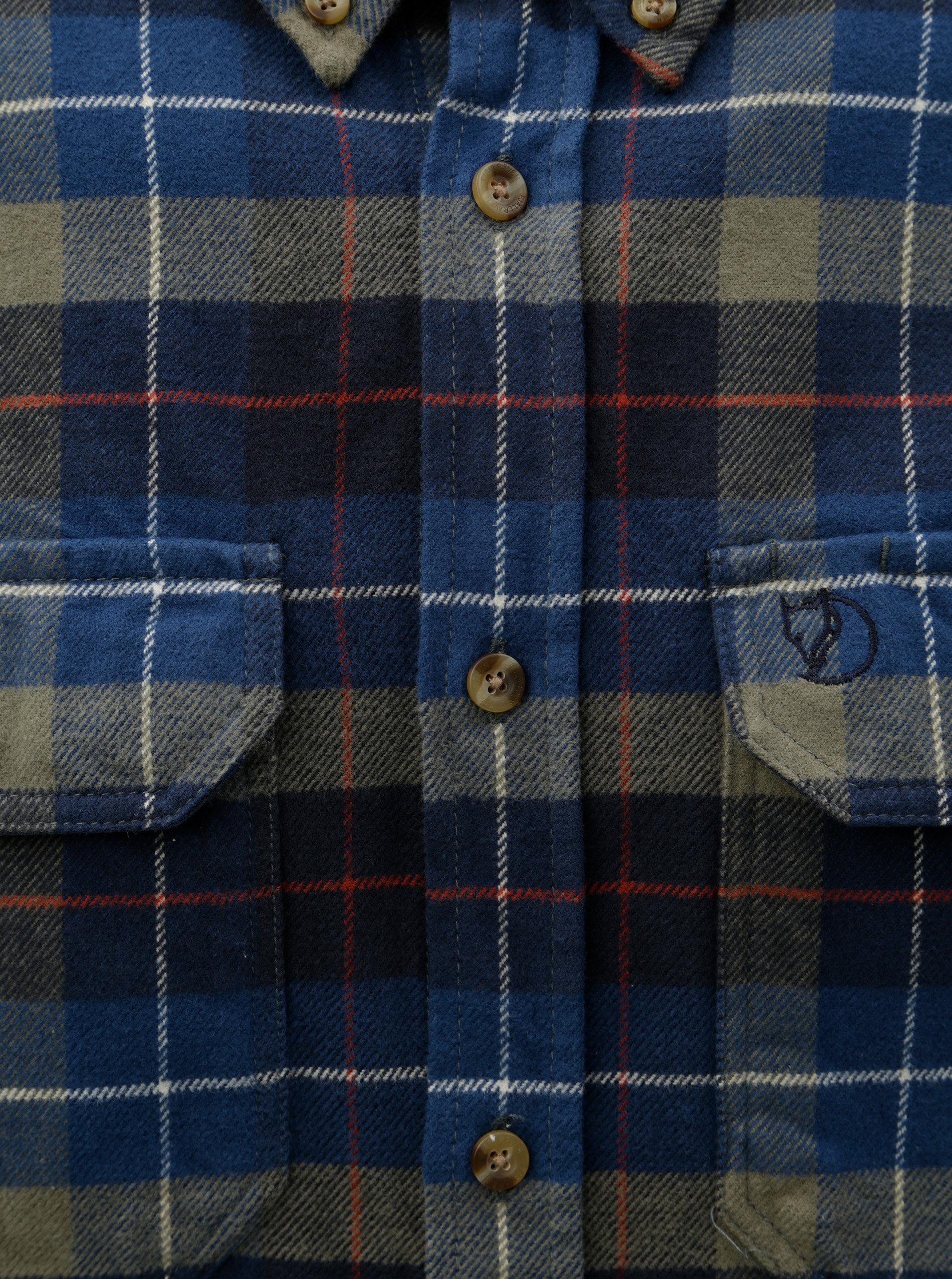 c00ea9e6773 Modrá pánská károvaná flanelová košile Fjällräven Singi ...
