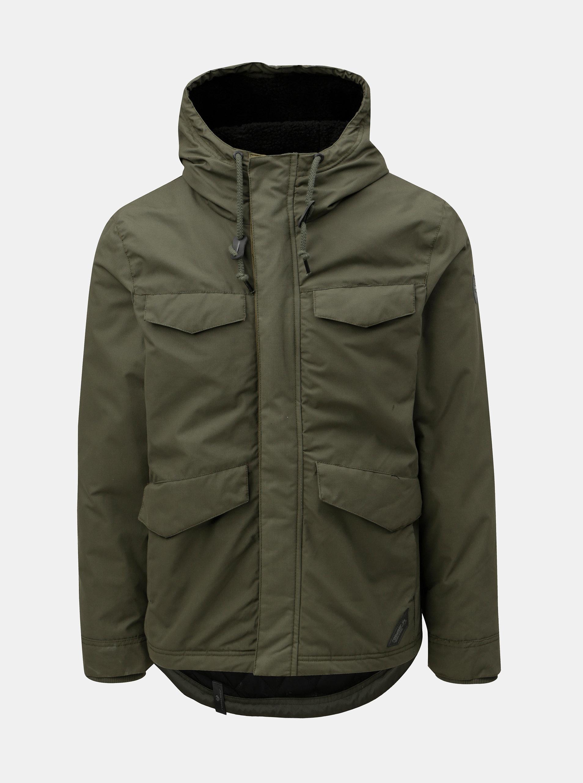 Zelená pánska zimná bunda s kapucňou Ragwear ... a41d99707be