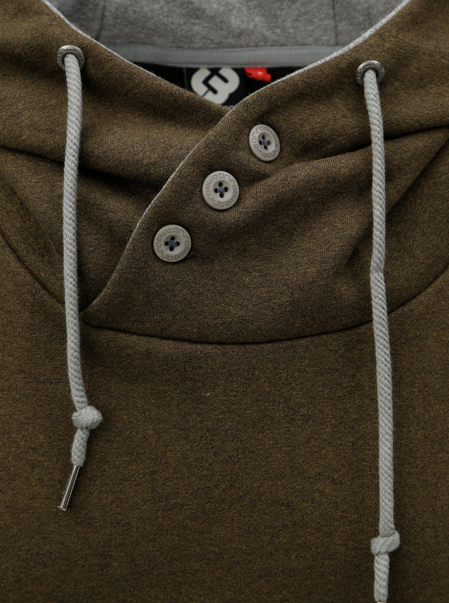 eb9b6d89c96 Zelená pánská mikina s kapucí Ragwear ...