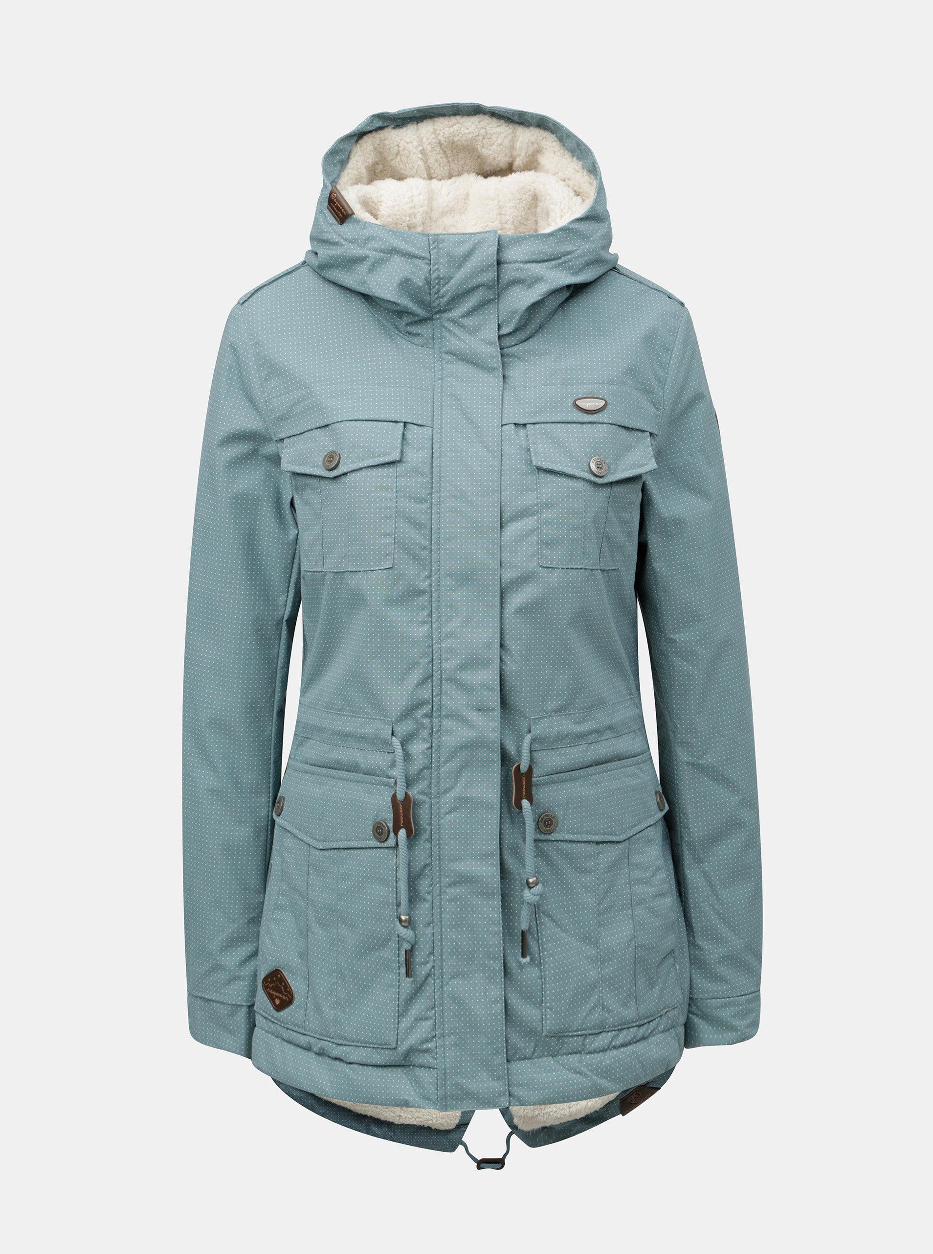 Modrá dámska zimná parka s kapucňou Ragwear ... b366d415052