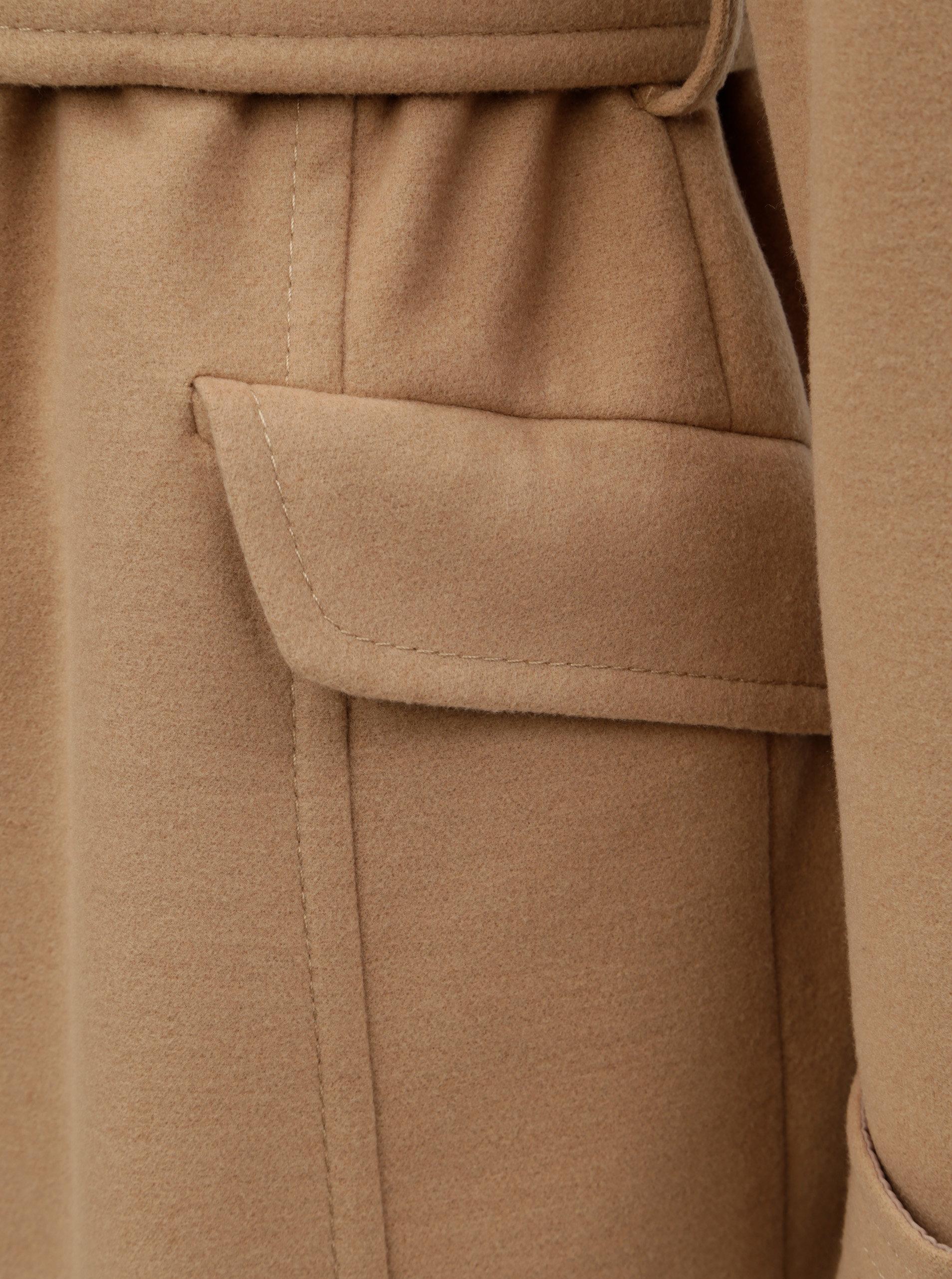 Béžový lehký kabát s páskem Dorothy Perkins ... 5993f64f703