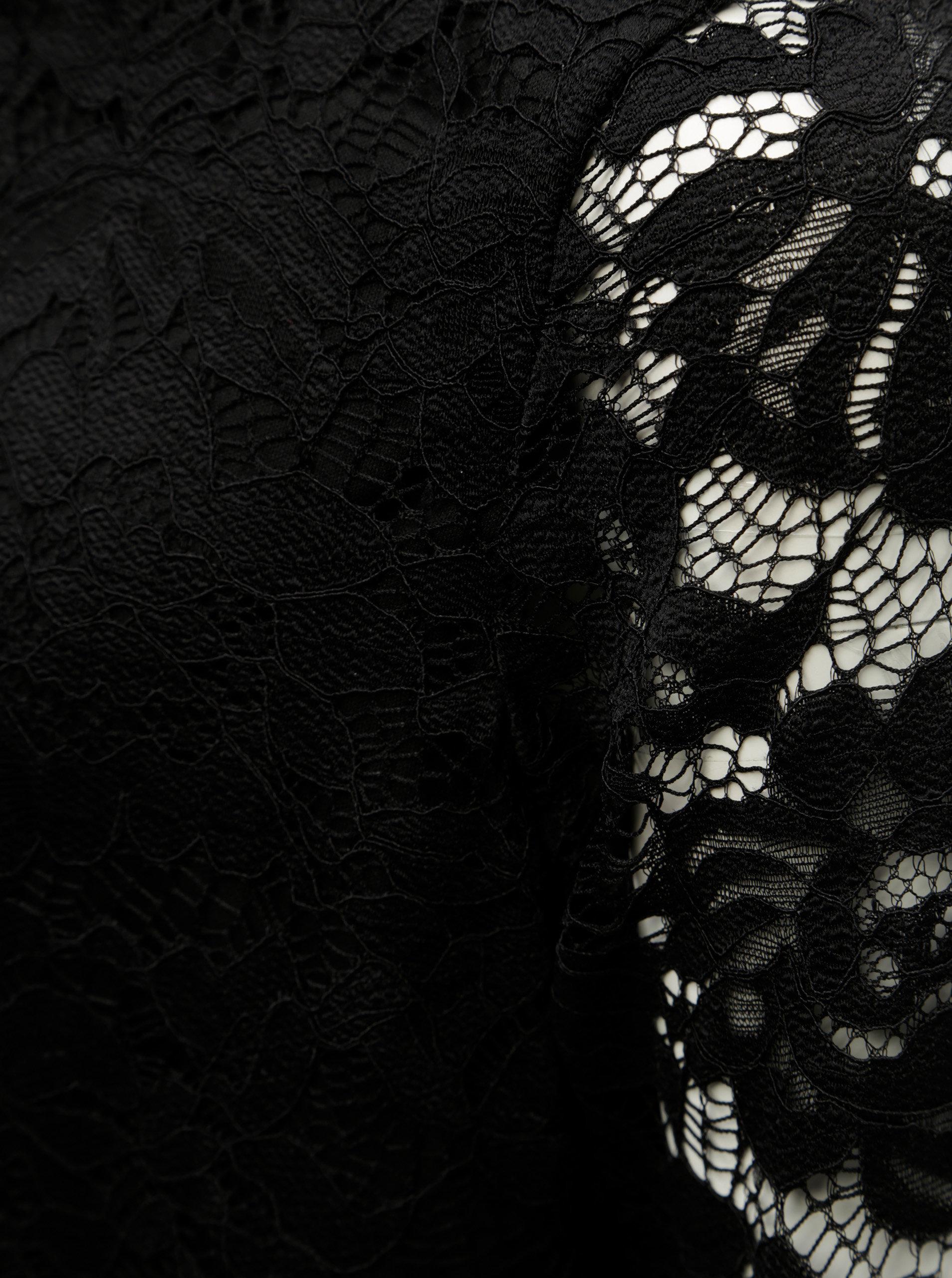 32e6d8b4e0a0 Čierne čipkované dievčenské šaty s dlhým rukávom Name it Sulla ...