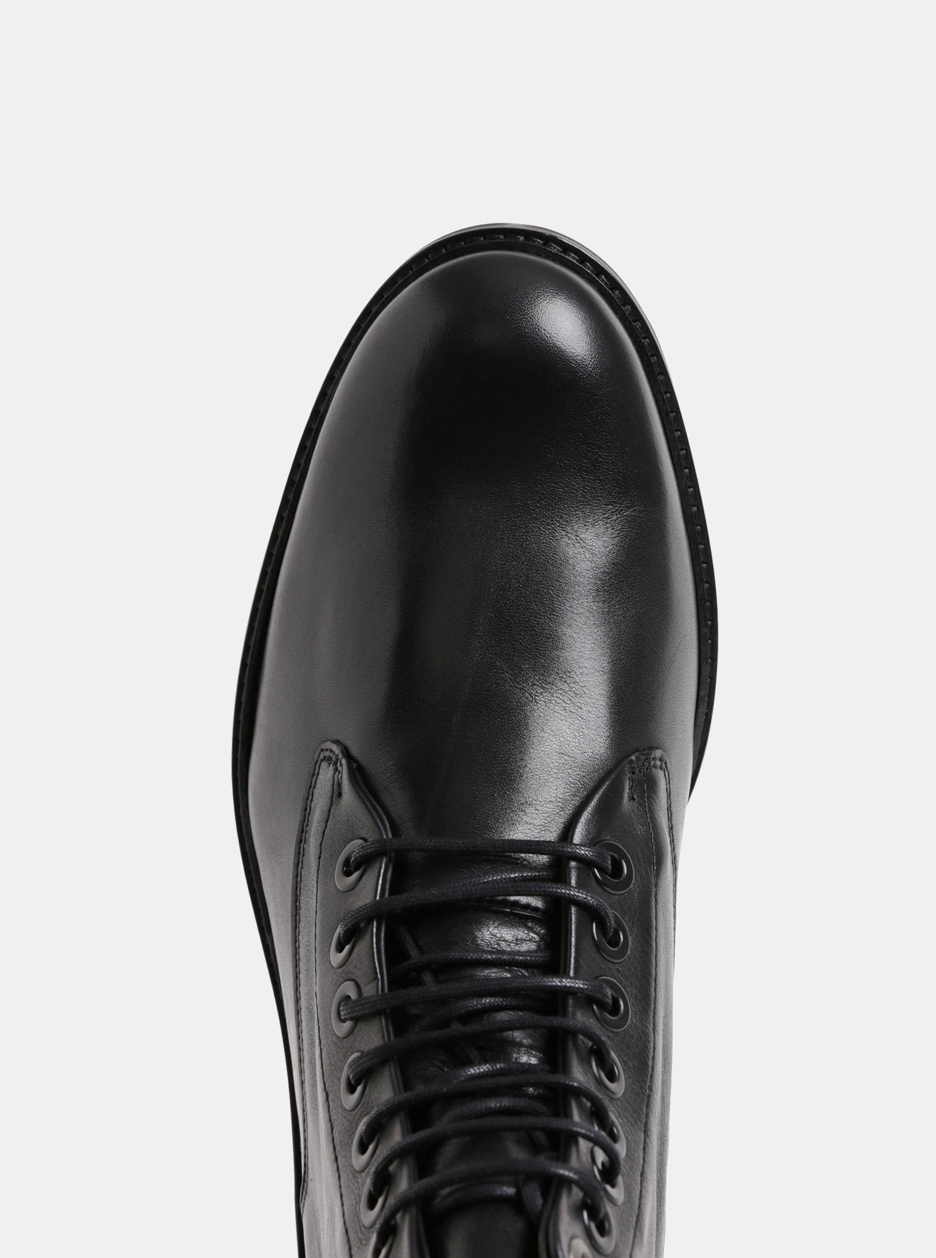 Černé pánské kožené kotníkové zimní boty Royal RepubliQ ... 6686b936f2