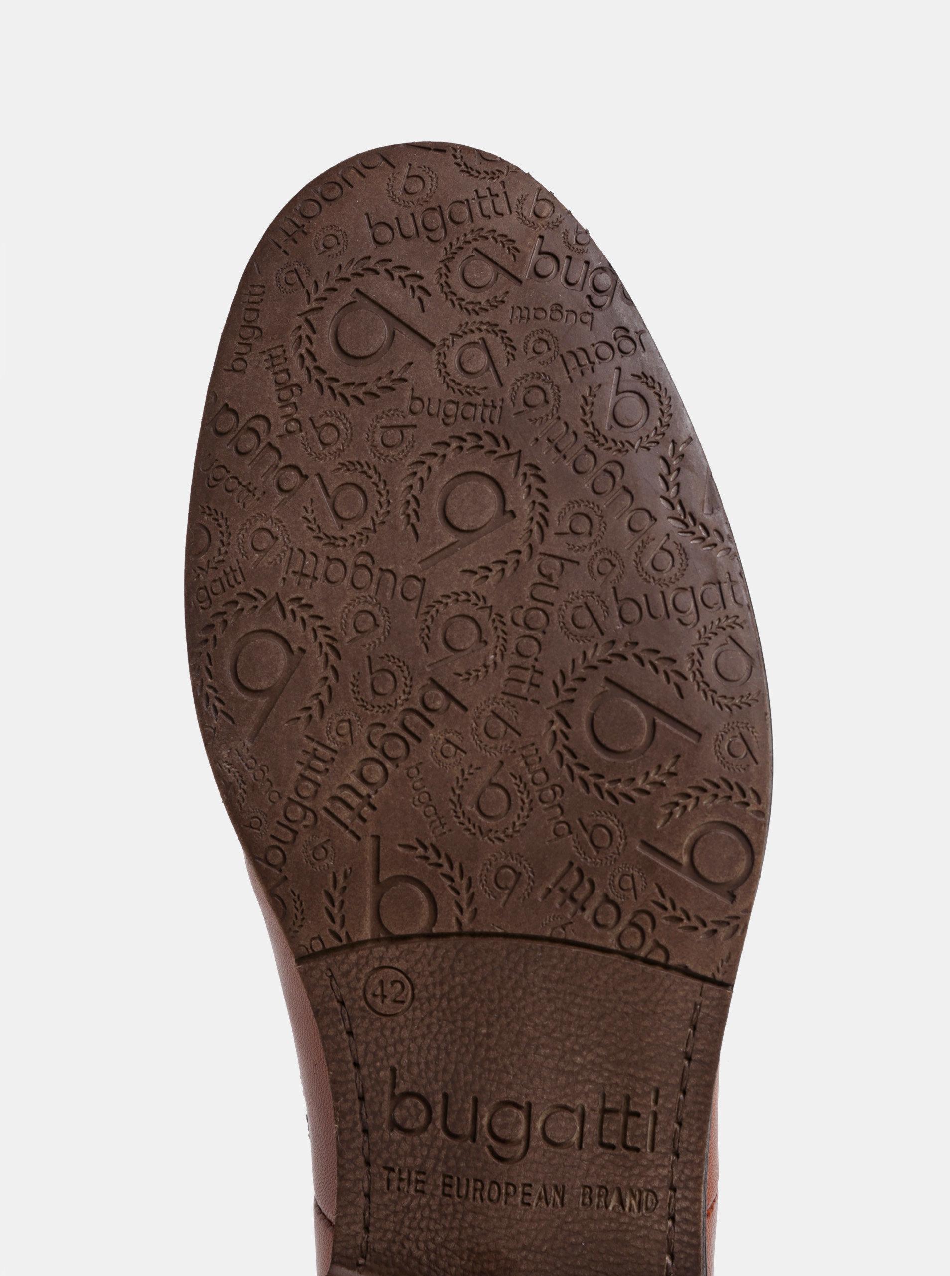 1422992883 Hnědé pánské kožené chelsea boty bugatti Abramo ...