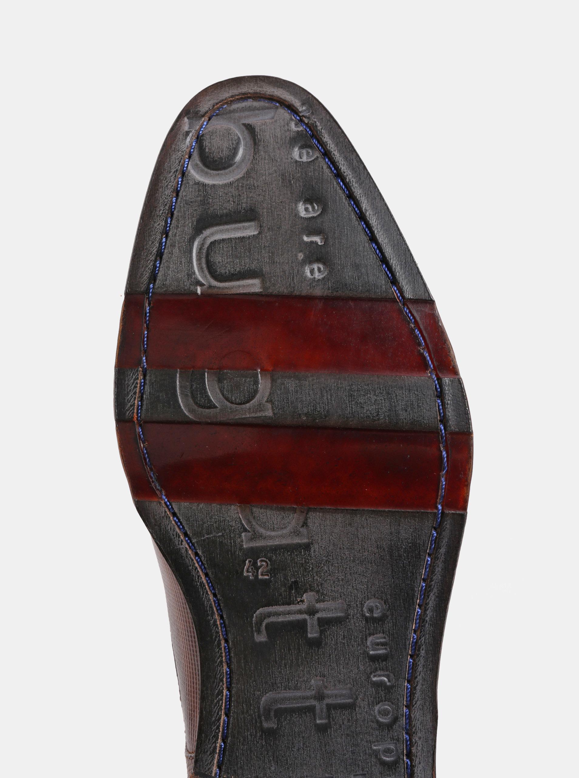 Hnědé pánské kožené polobotky bugatti Meno ... 5dedf4e8bb