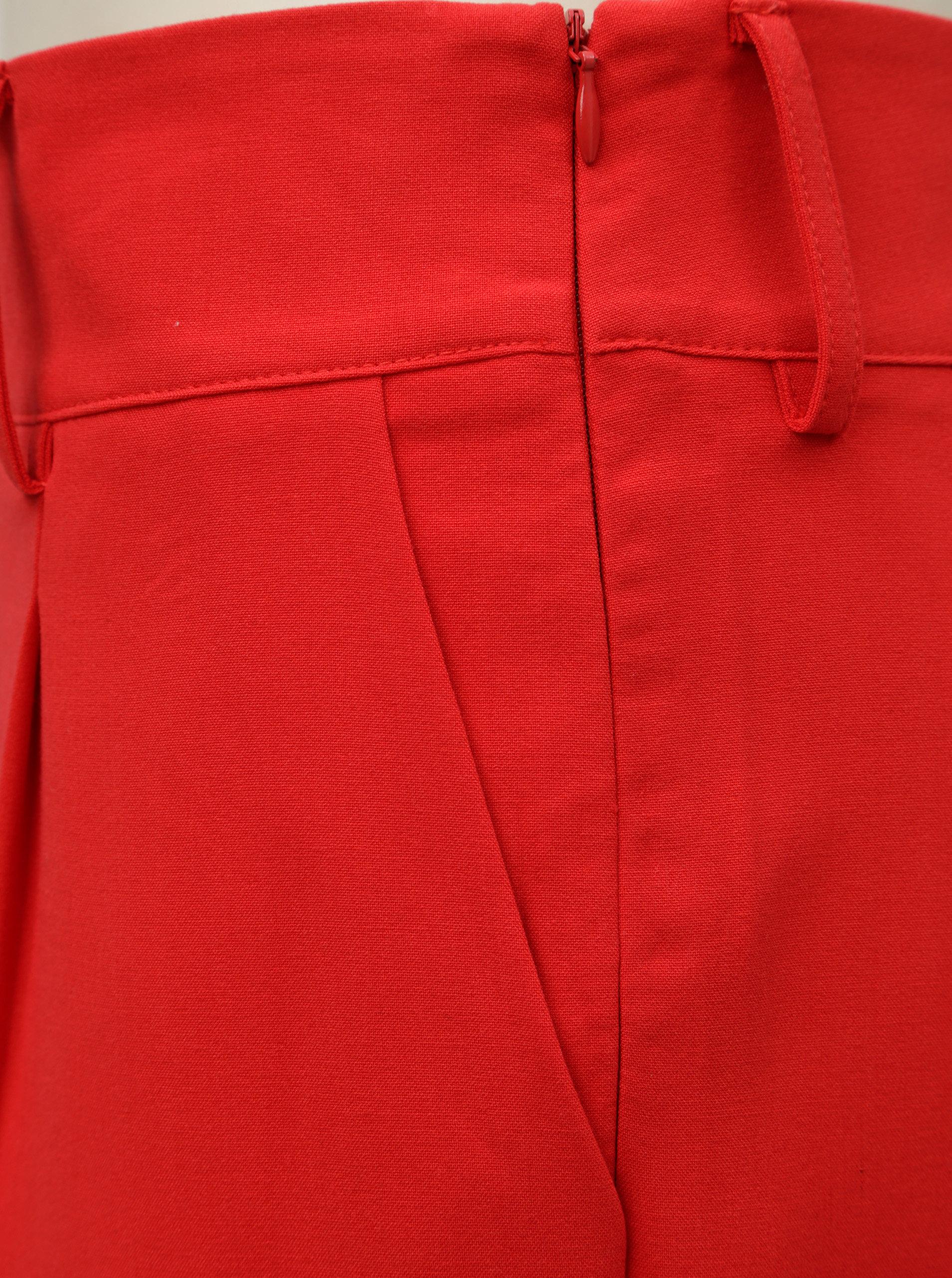 Červené kalhoty s vysokým pasem Jacqueline de Yong Felix ... 8bd917fe81