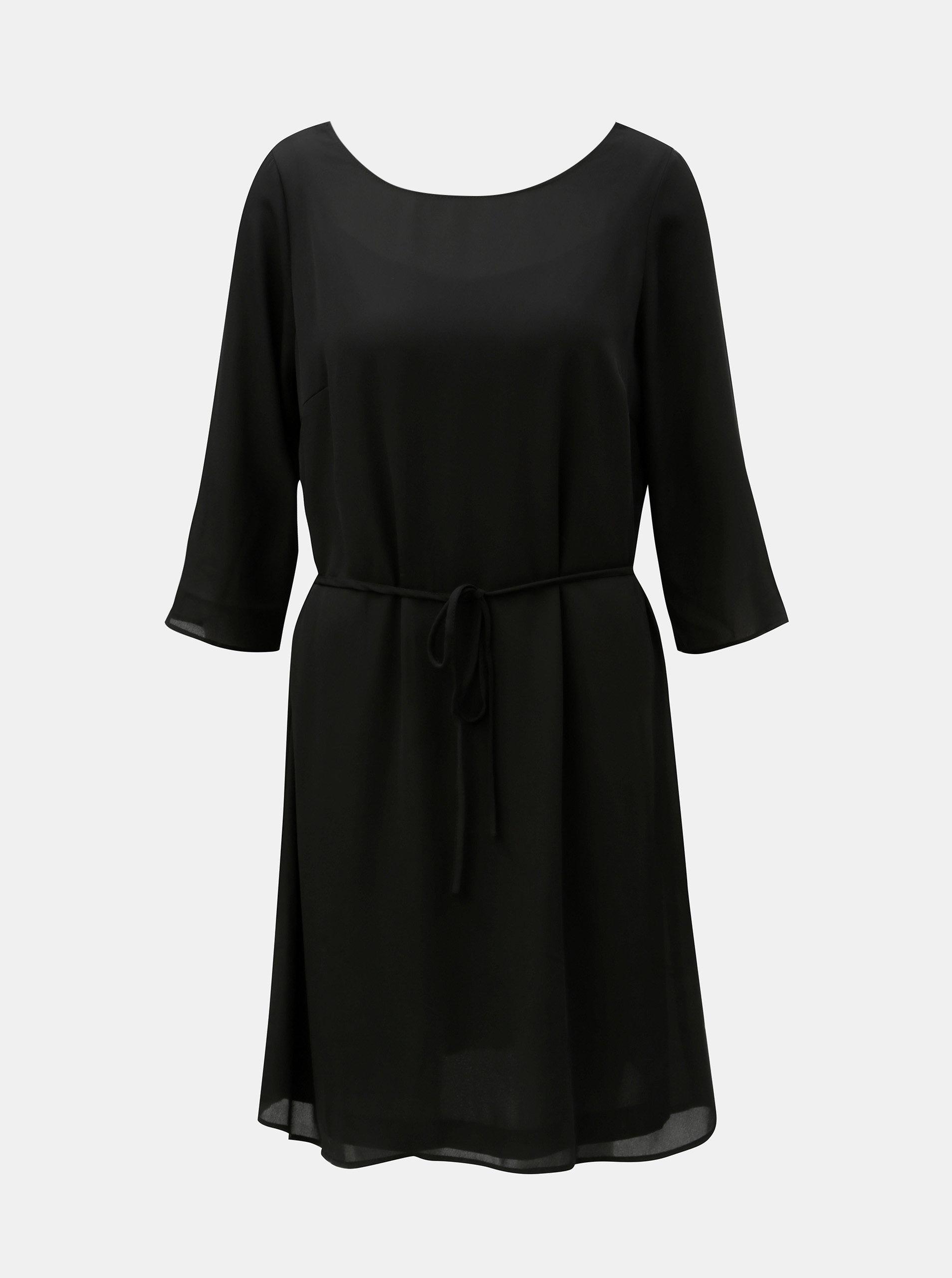 eca3c1e3dda3 Černé šaty s krajkou a páskem VILA Lucy ...