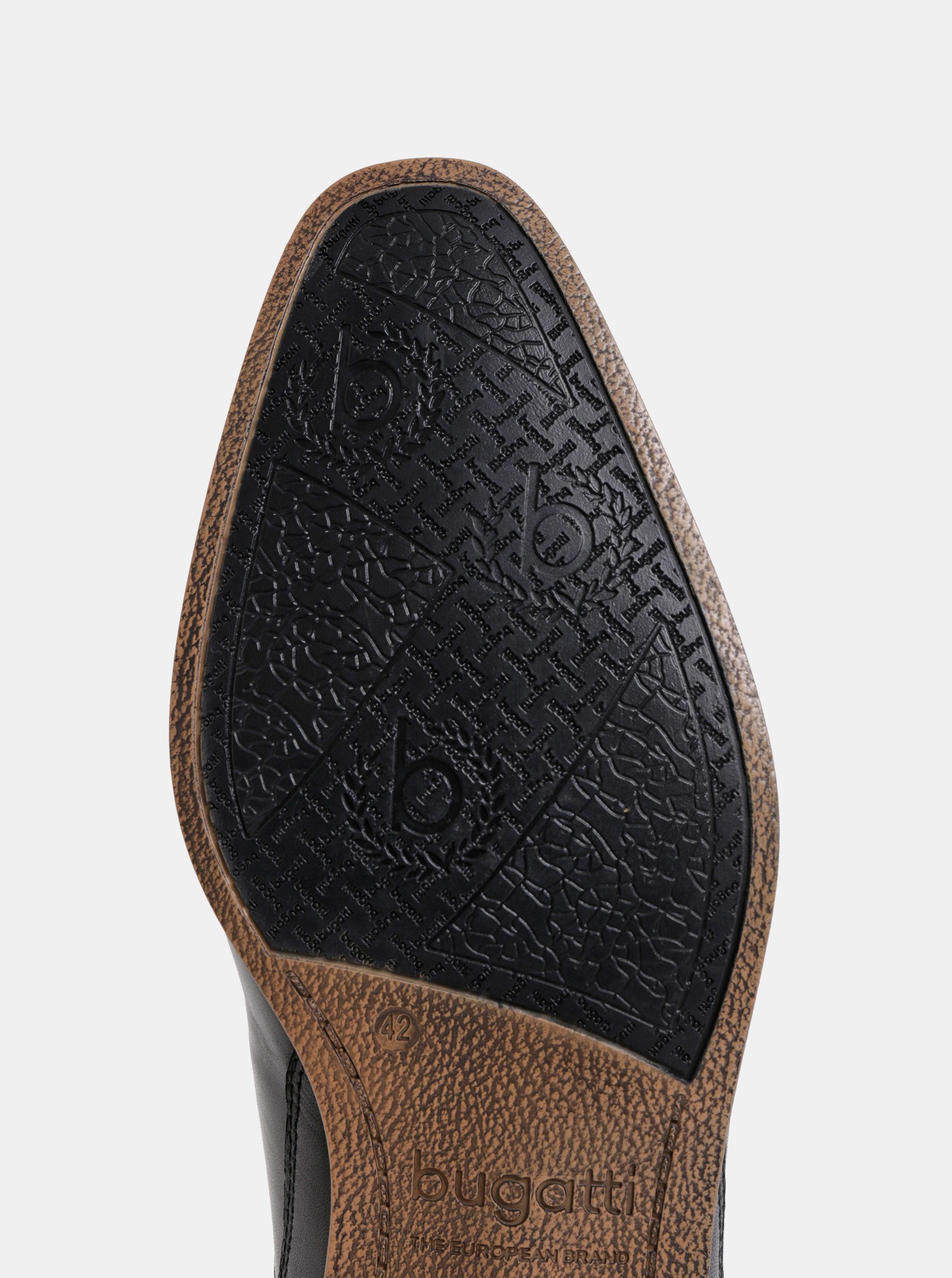 Černé pánské kožené polobotky bugatti Morino ... 4378394fd7