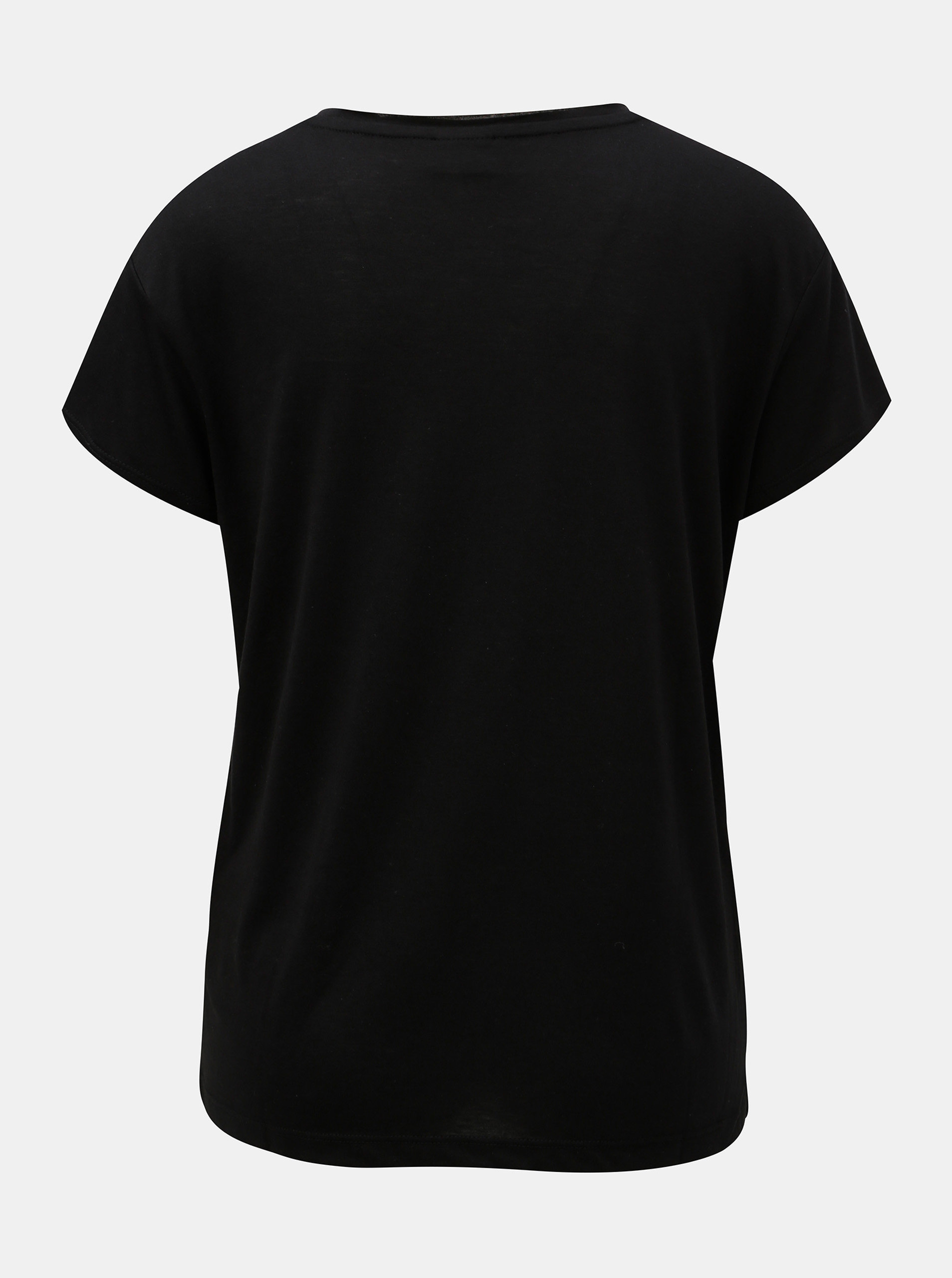 1406e92b4fec Čierne tričko s potlačou a semišovým nápisom Jacqueline de Yong Roa ...