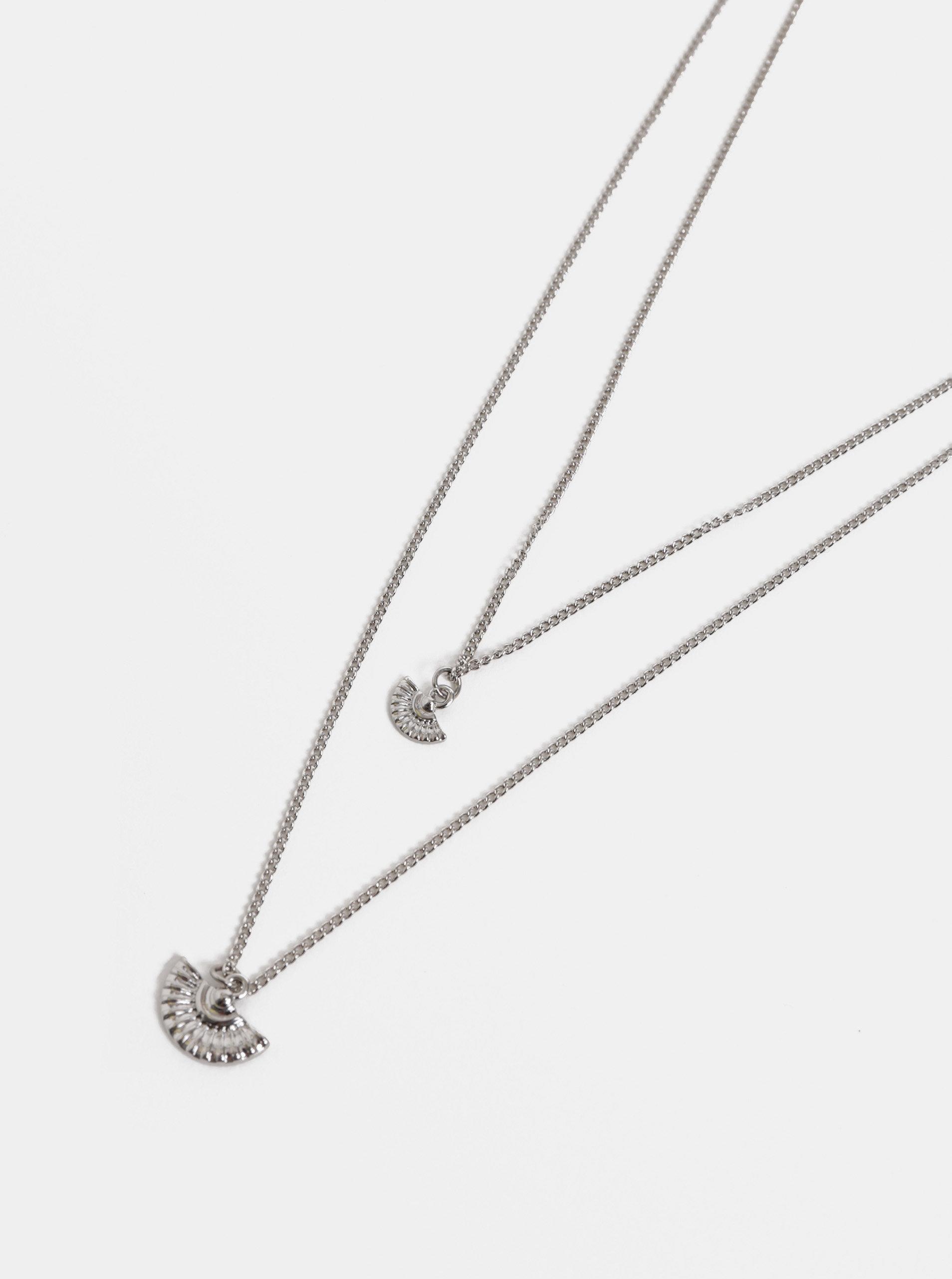 63f5a668a Náhrdelník ve stříbrné barvě s půlkruhovými přívěsky Pieces | ZOOT.cz