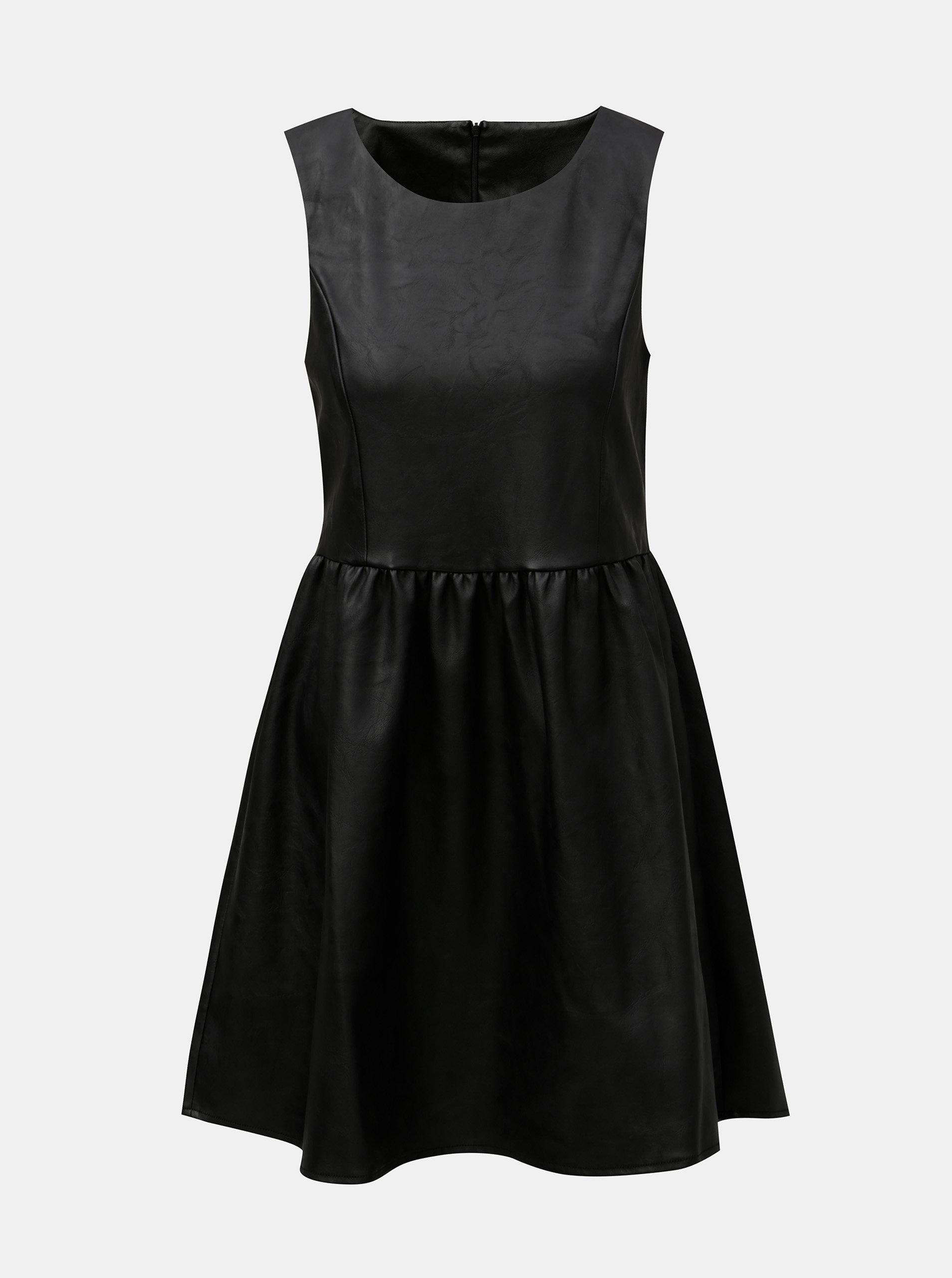 6949ca8e278 Čierne koženkové šaty ONLY Wilshire ...