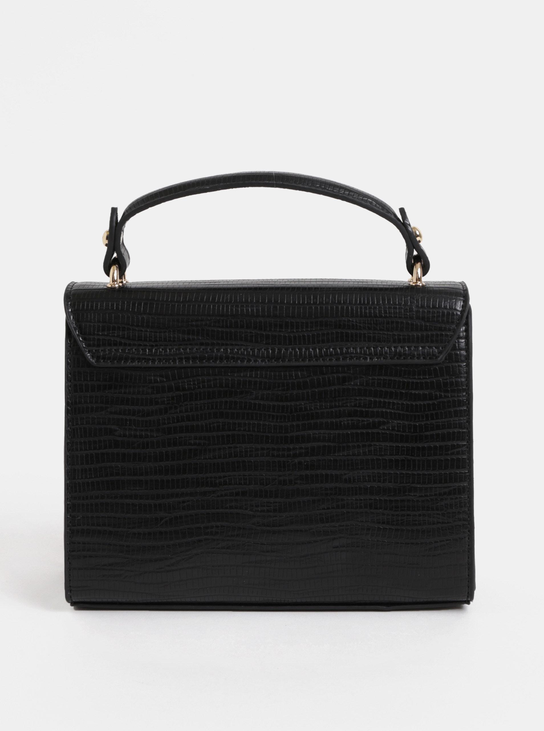 15e75bd820cc9 Čierna malá kabelka s detailmi v zlatej farbe Miss Selfridge | ZOOT.sk