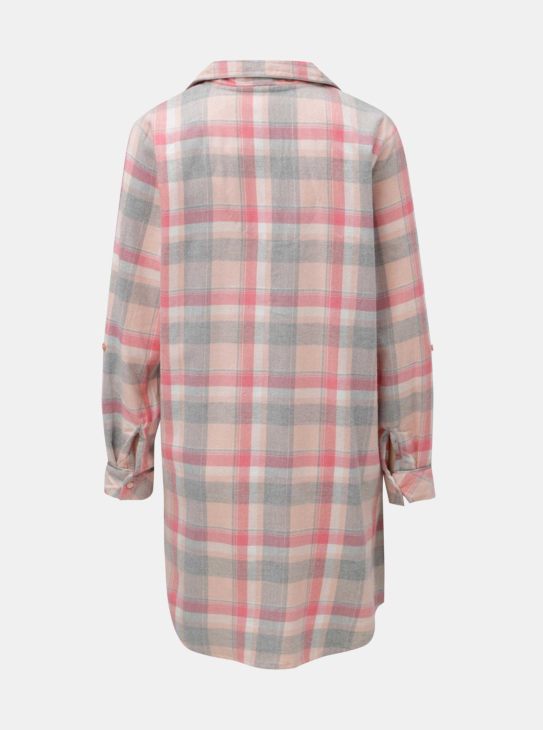 ca0bcf545036 Ružová károvaná nočná košeľa Dorothy Perkins ...