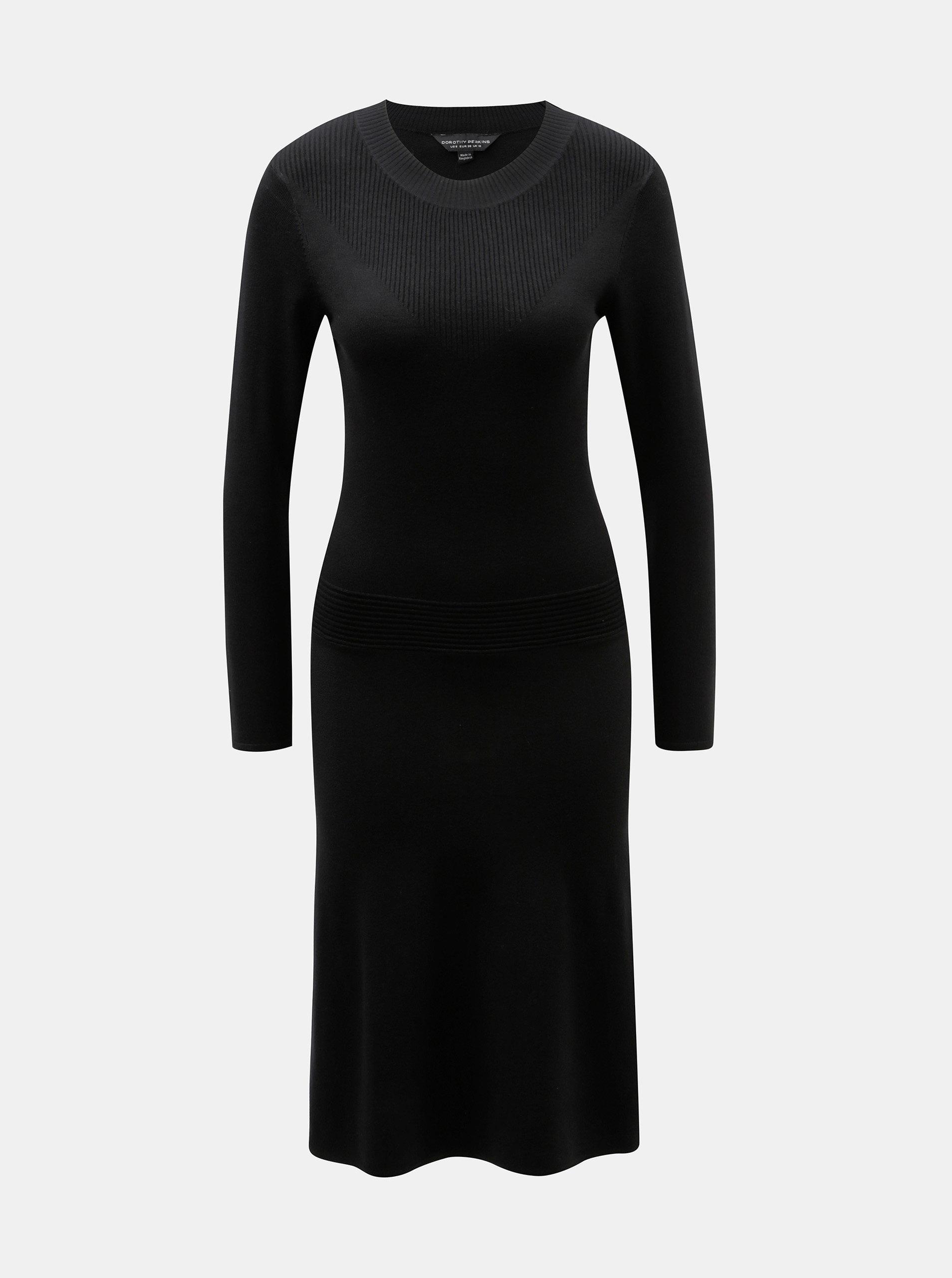 dc0d1f4dc297 Černé svetrové šaty Dorothy Perkins ...