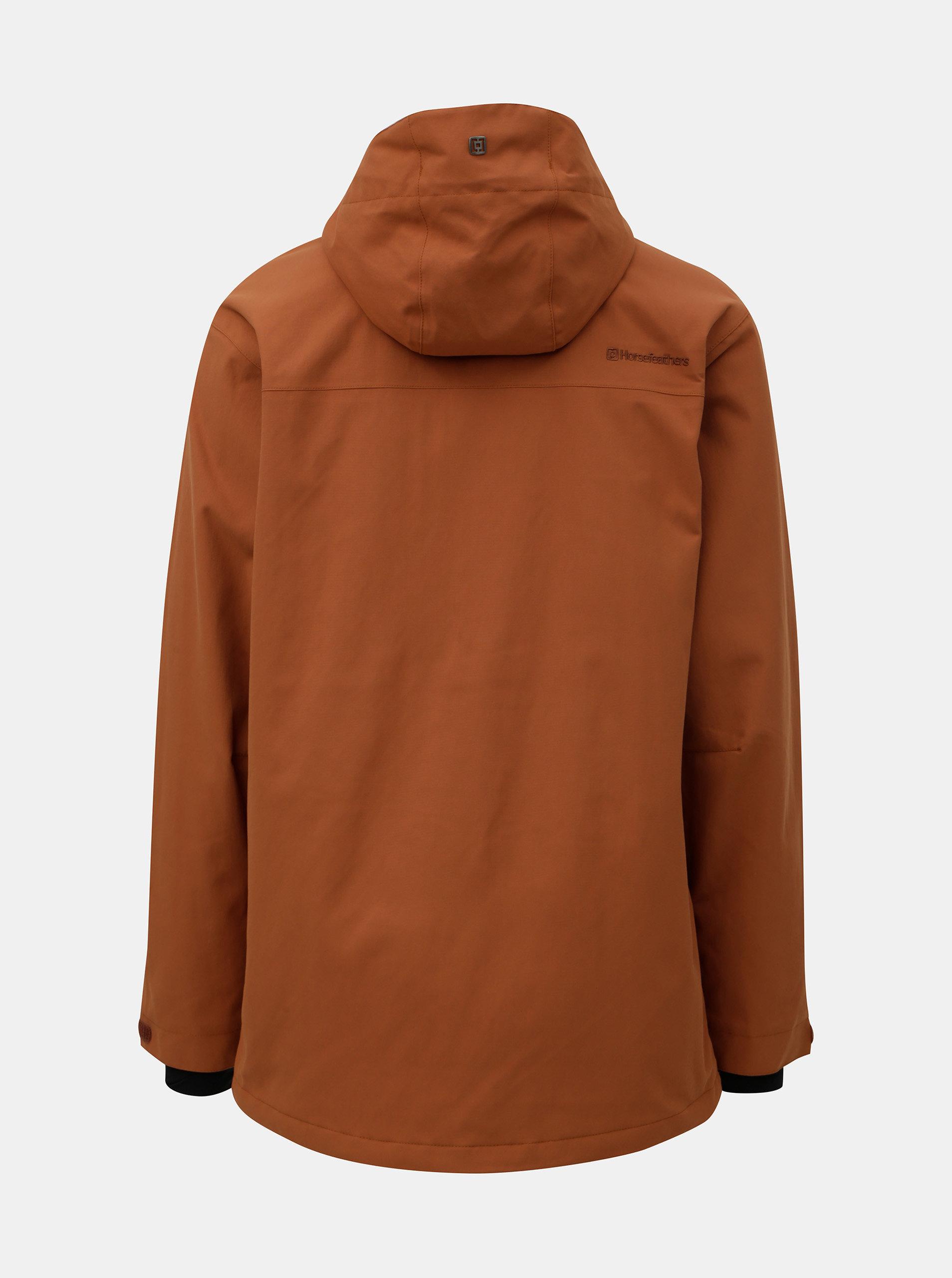 3a3501ef585 Oranžová pánská funkční zimní bunda s prodlouženou délkou Horsefeathers  Hornet ...