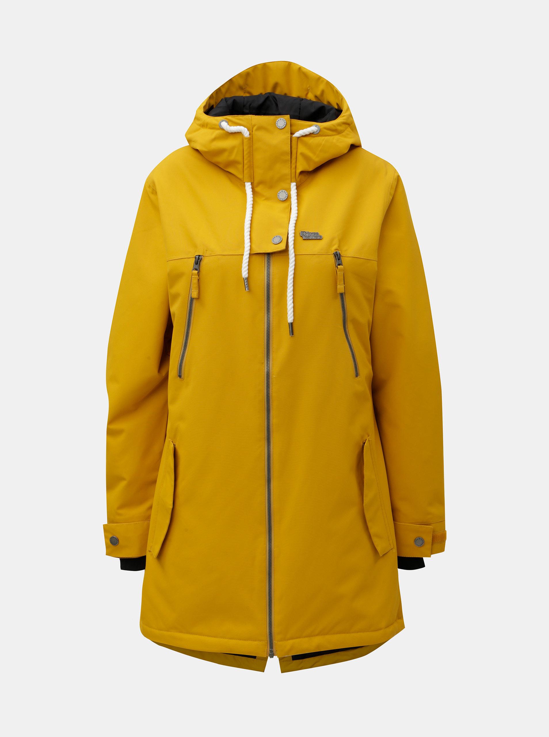 Žltá dámska snowboardová bunda Horsefeathers Chipy ... 4a7b4caa26f