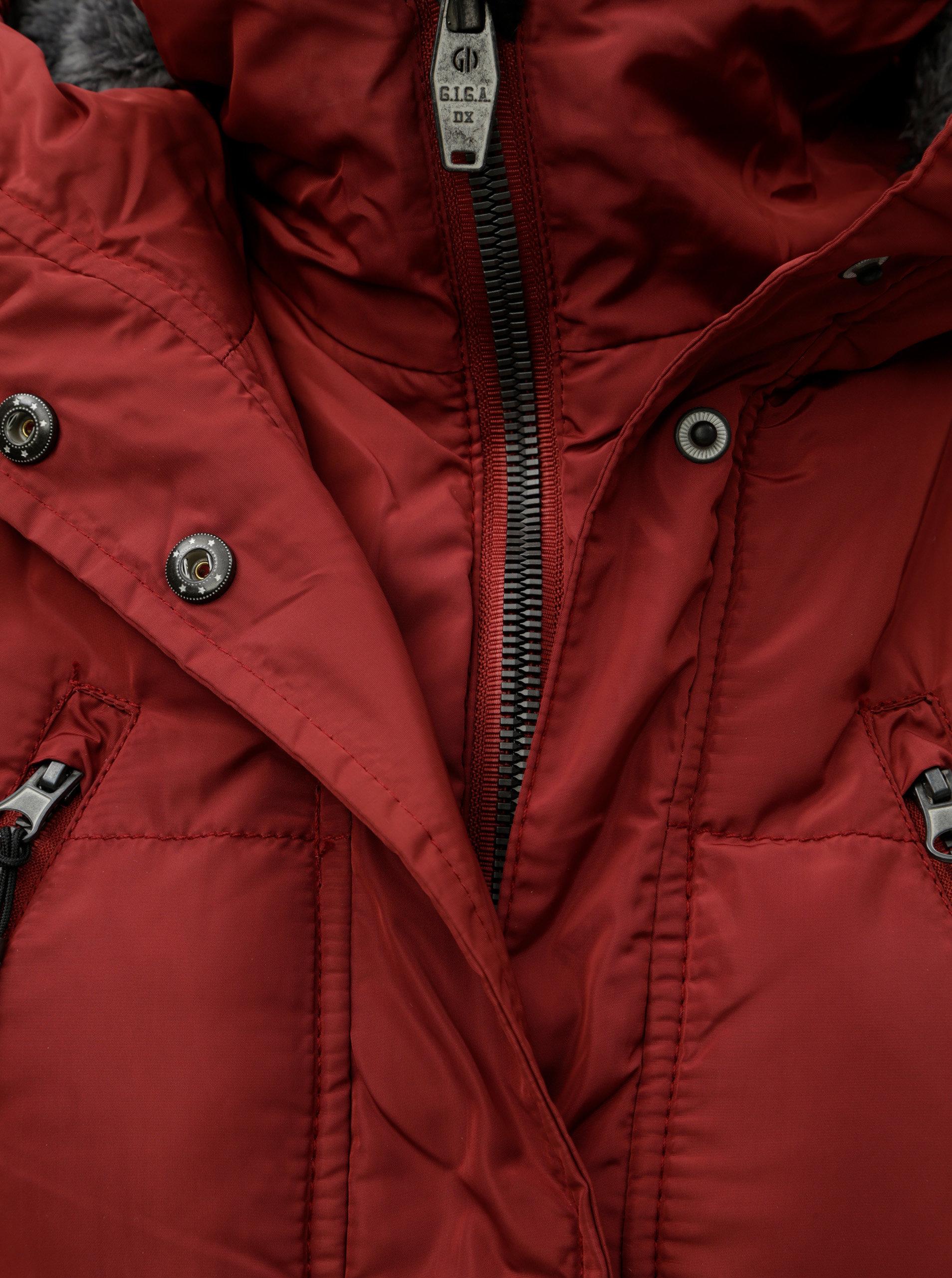 Červený dámsky nepremokavý zimný kabát killtec Treva ... d62a9c90a92