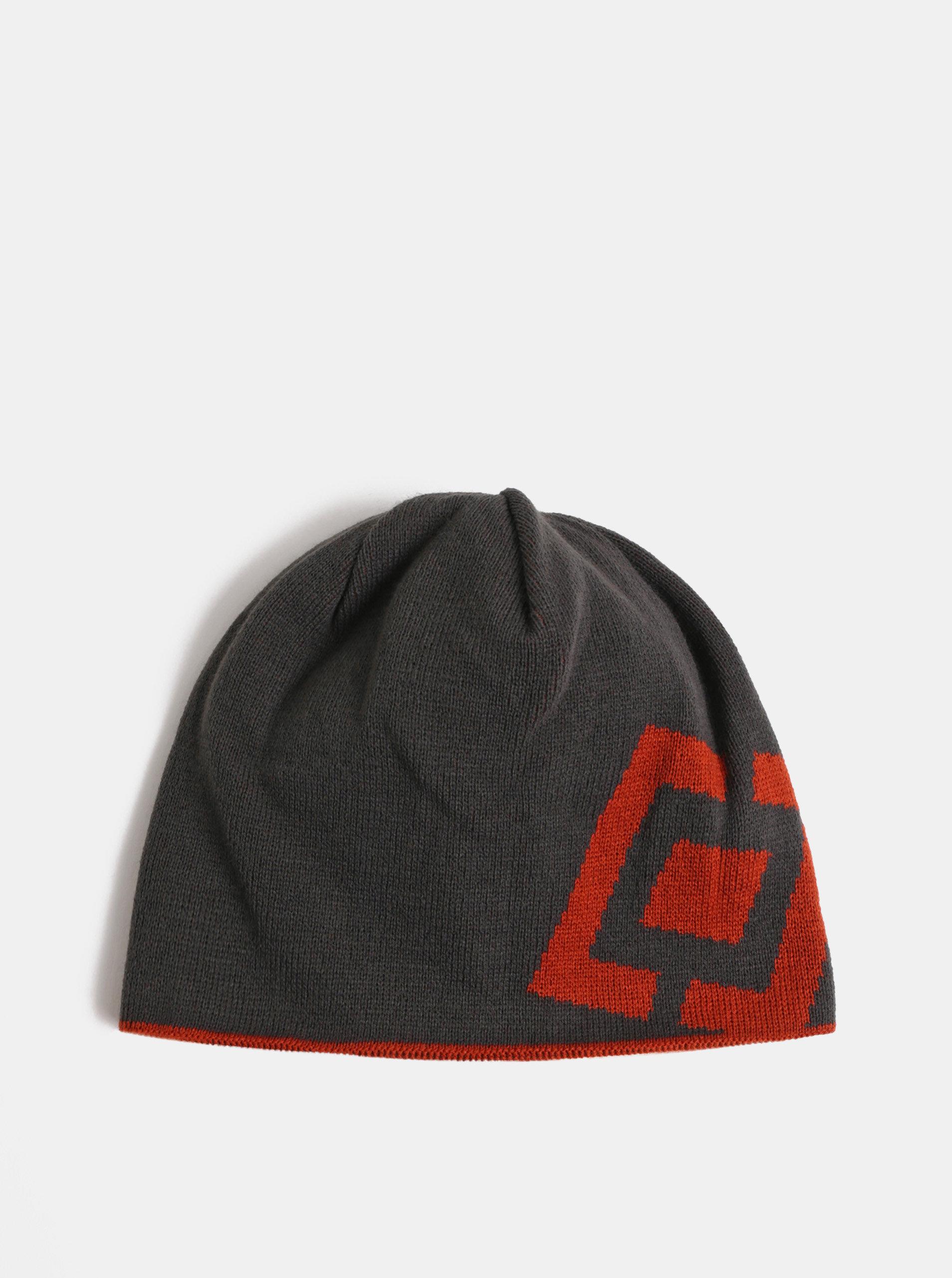 Červeno-šedá pánská oboustranná čepice Horsefeathers Fuse ... e32791c415