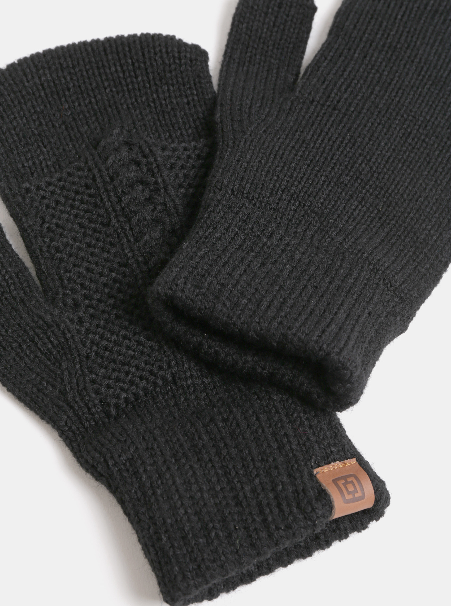 f0166eaed0ca Čierne dámske pletené rukavice Horsefeathers Zara ...
