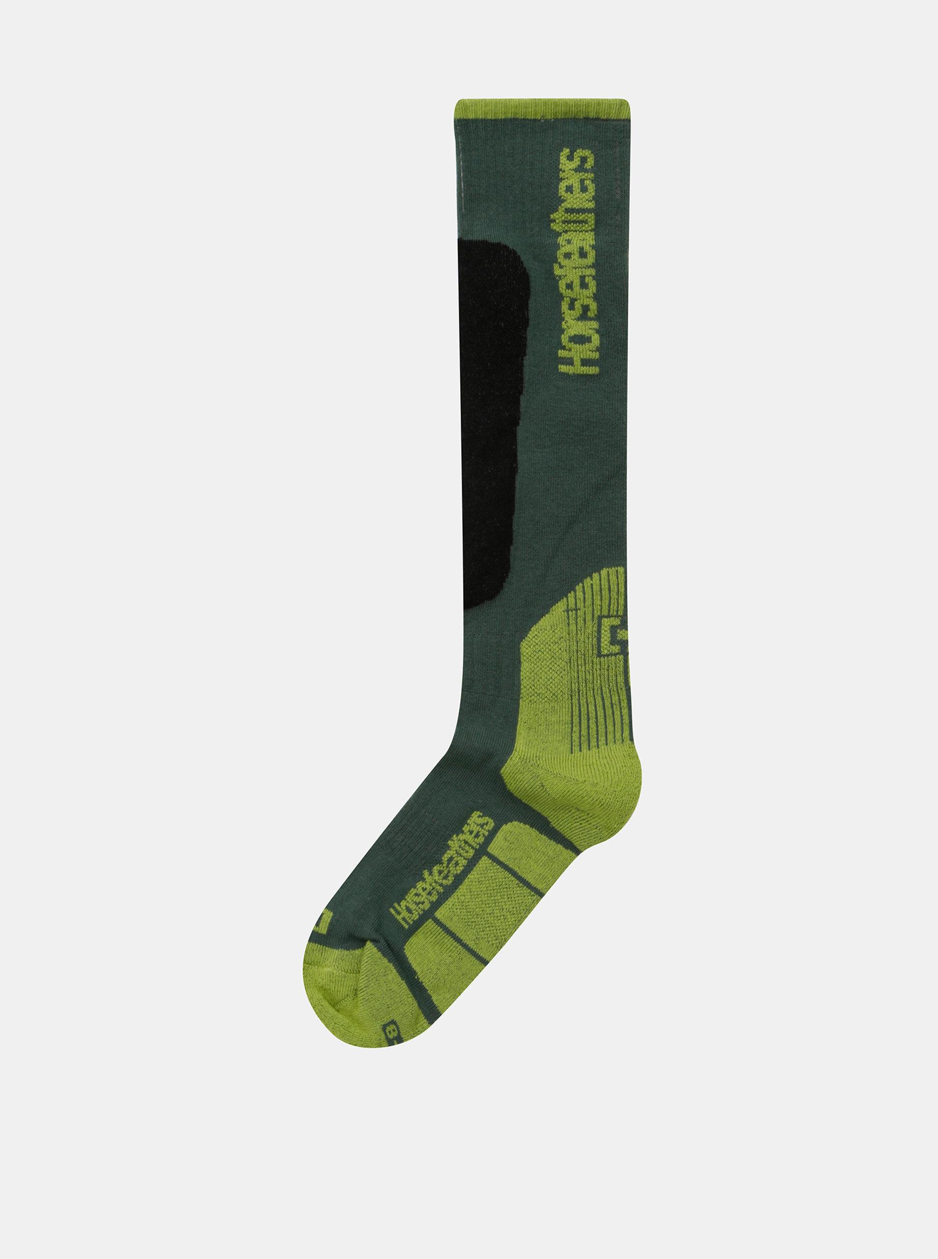 35f6f86a42c Zelené pánské snowboardové ponožky Horsefeathers Caleb Thermolite ...