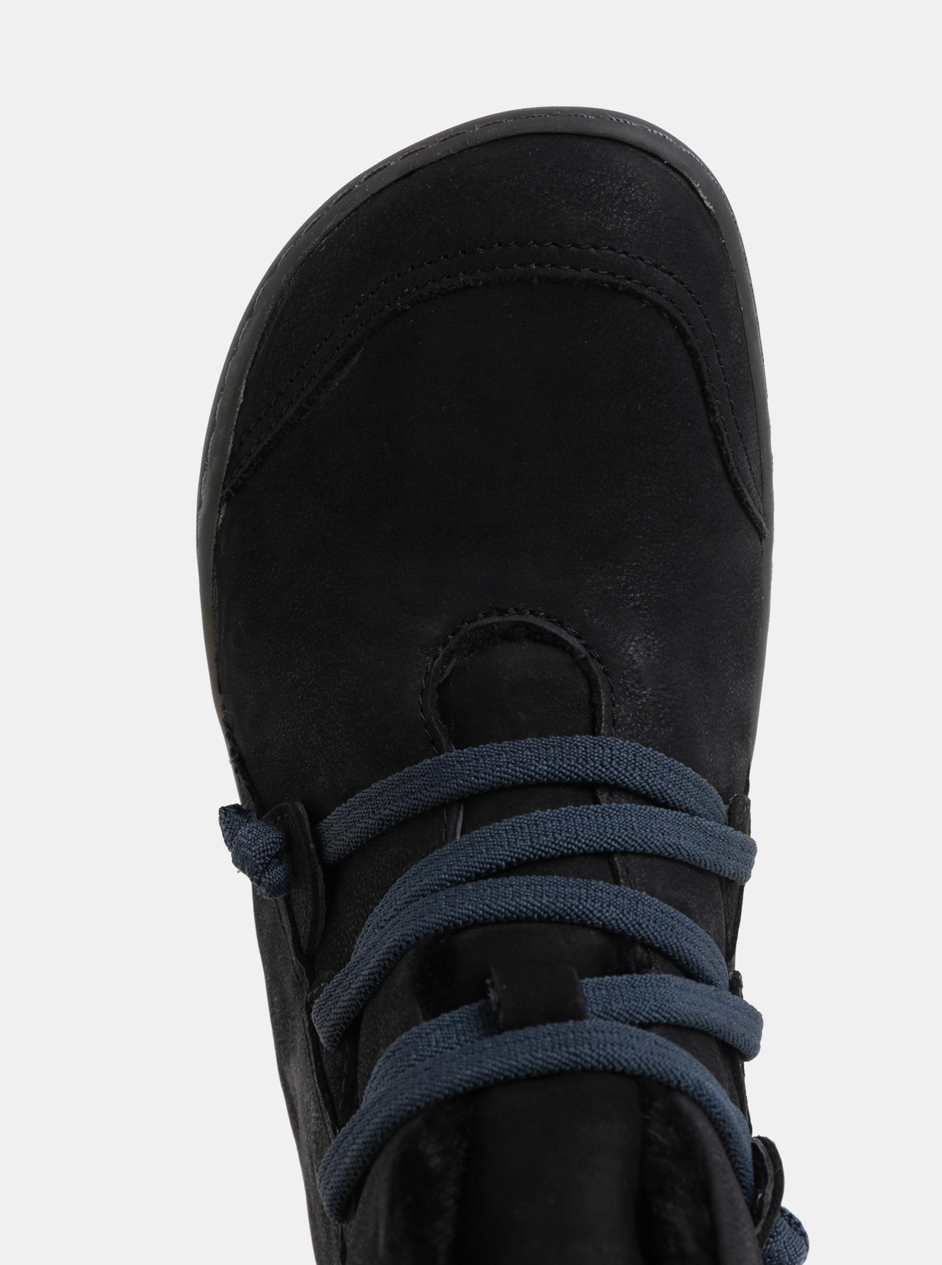 Černé dámské kožené kotníkové zimní boty s vnitřním umělým kožíškem Camper  Cami Hell ... 65bfa6e84e