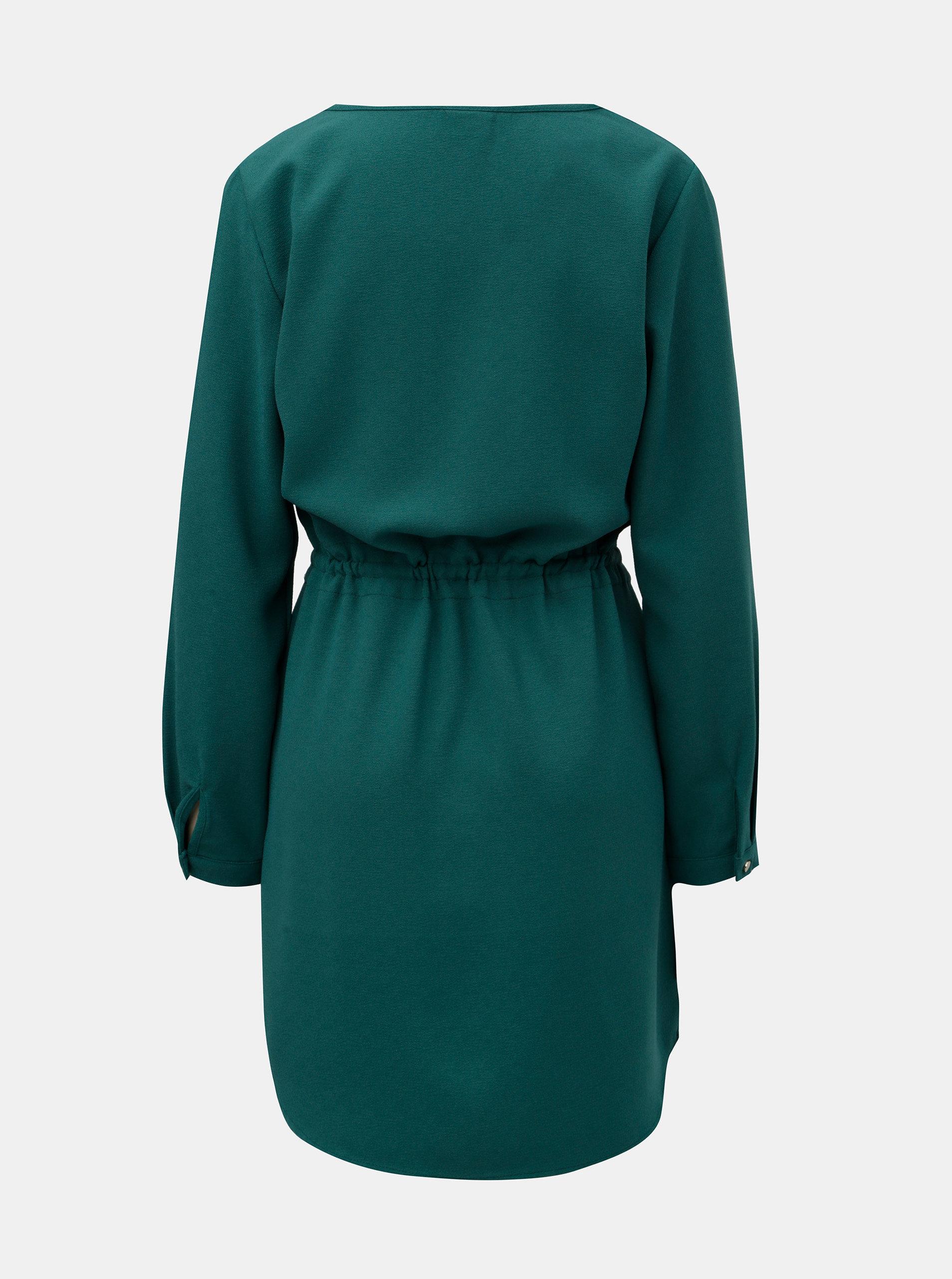 34c9763a8276 Zelené šaty s dlouhým rukávem VILA Visealo ...