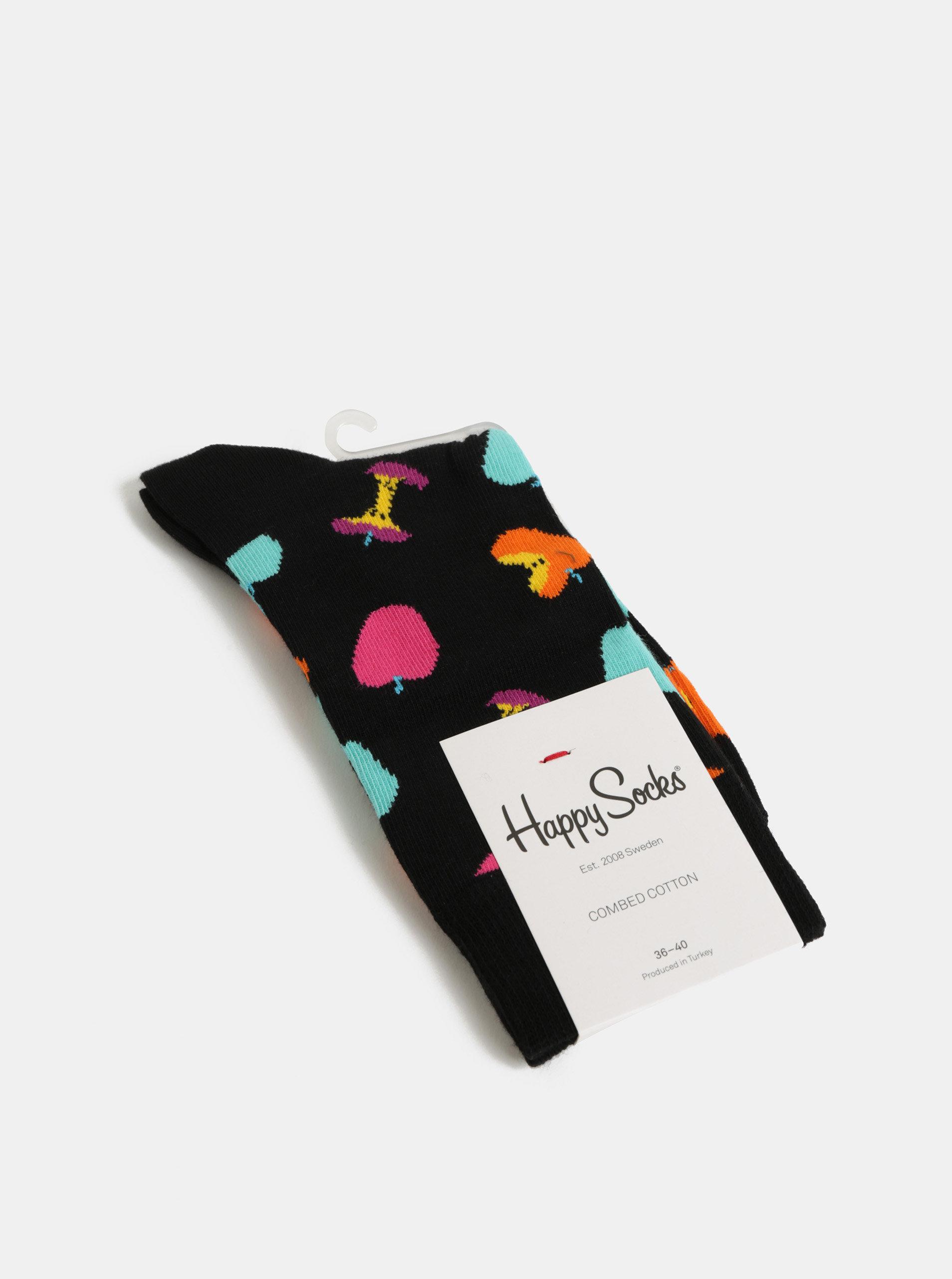 b3f55c37644 Černé dámské ponožky s motivem jablek Happy Socks Apple Sock ...