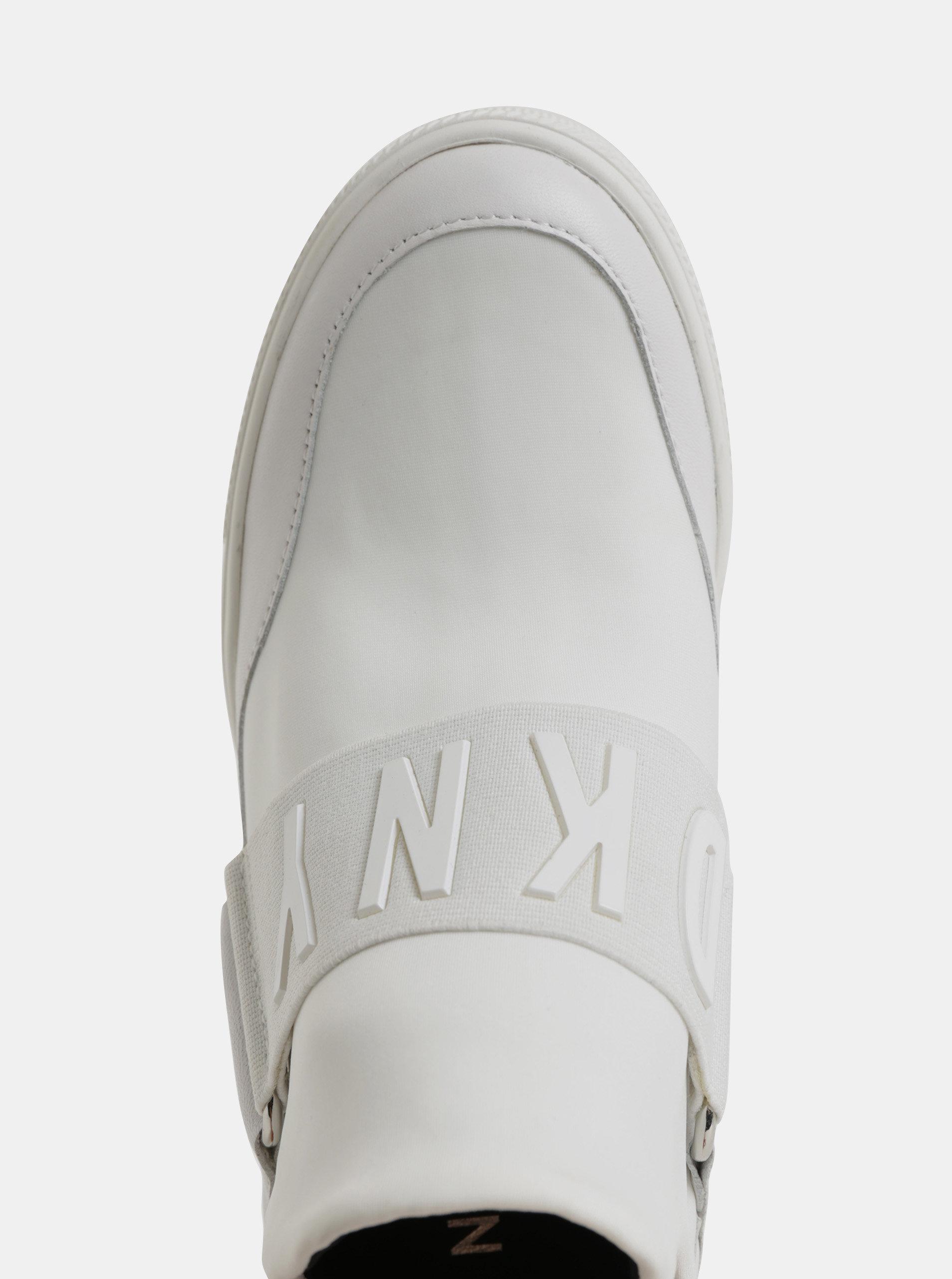 6cf215ef4eb2 Biele tenisky na plnom podpätku DKNY Cosmos ...
