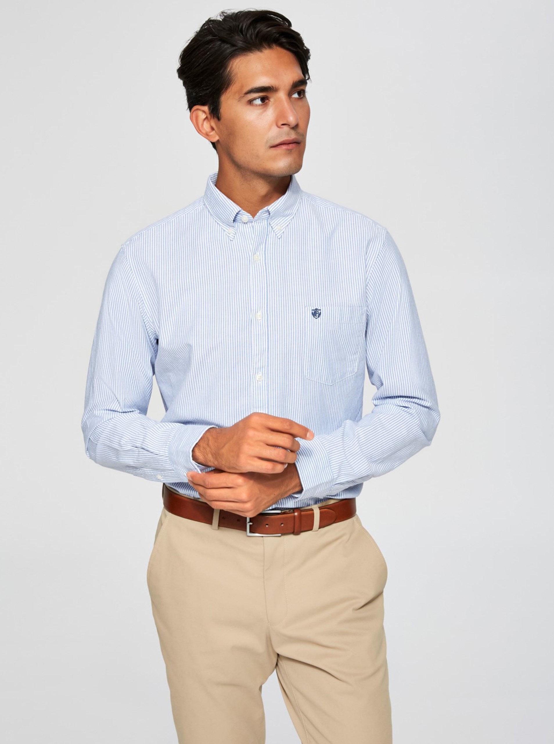 7c4b02acc597 Svetlomodrá pruhovaná košeľa Selected Homme Collect ...