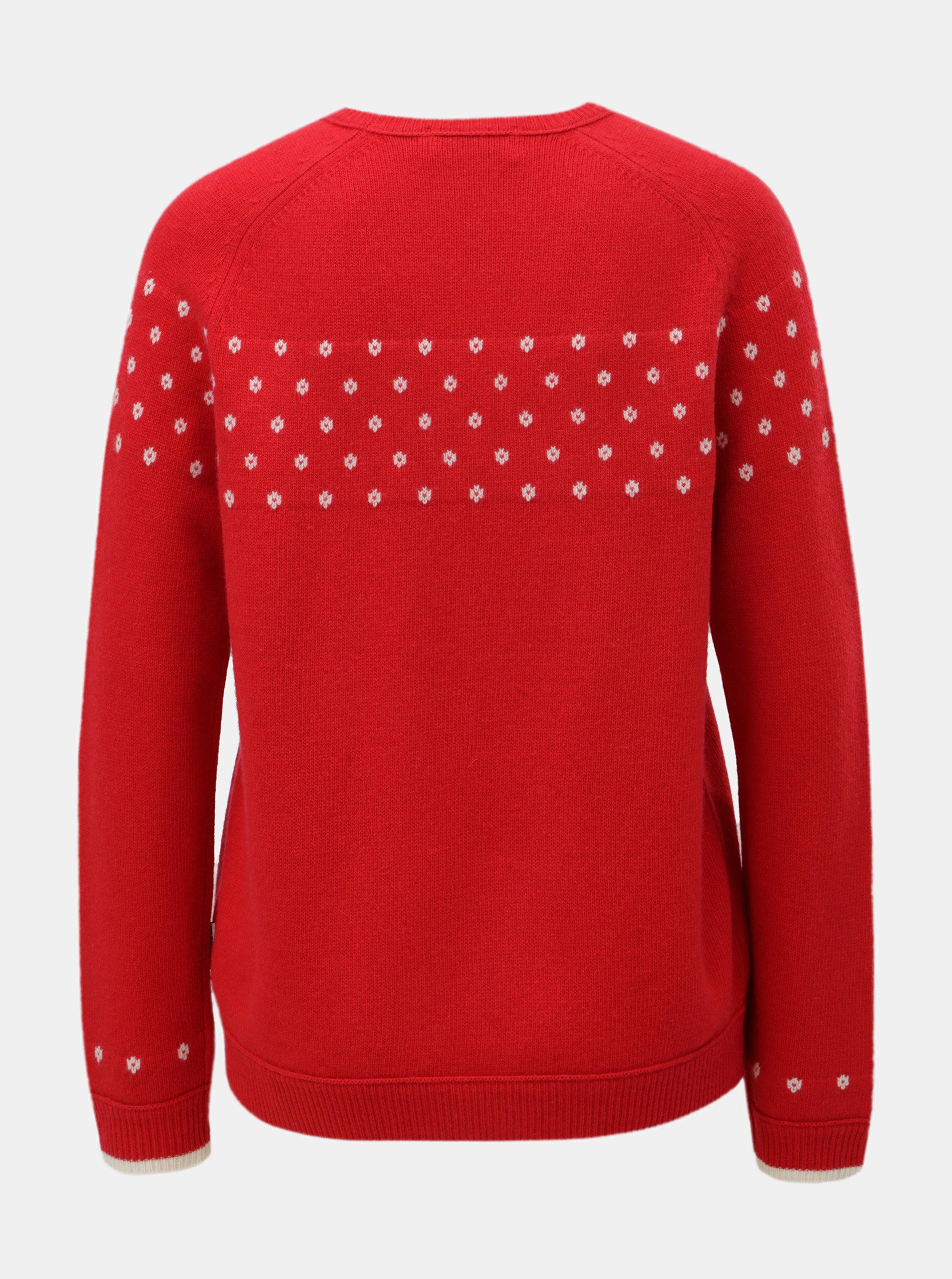 195ba23f42cc Červený dámsky vlnený sveter s bodkami Maloja Muntabella ...