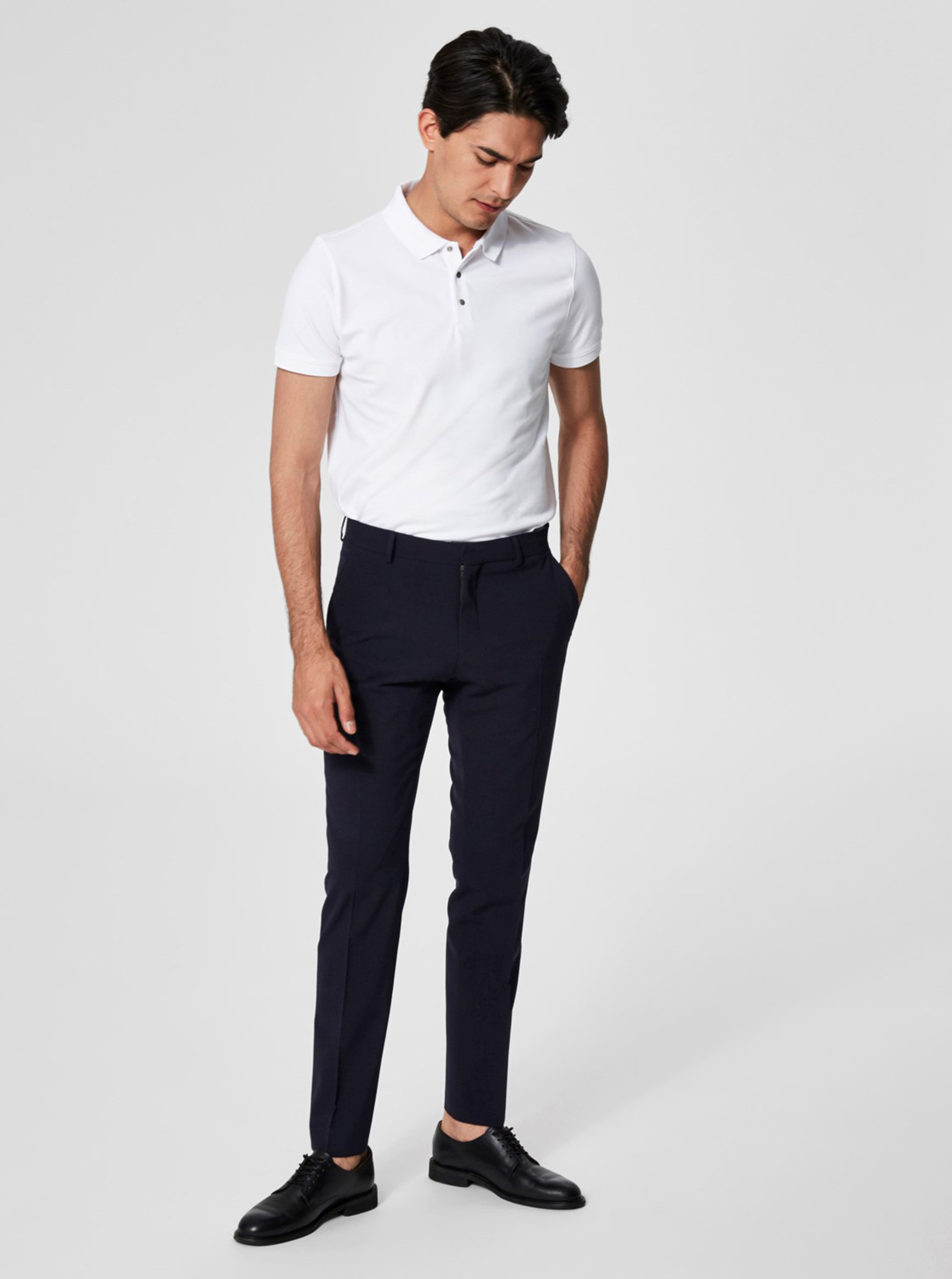 ro Homme Polo Selected Tricou DamonZoot Alb L3ARS4c5jq