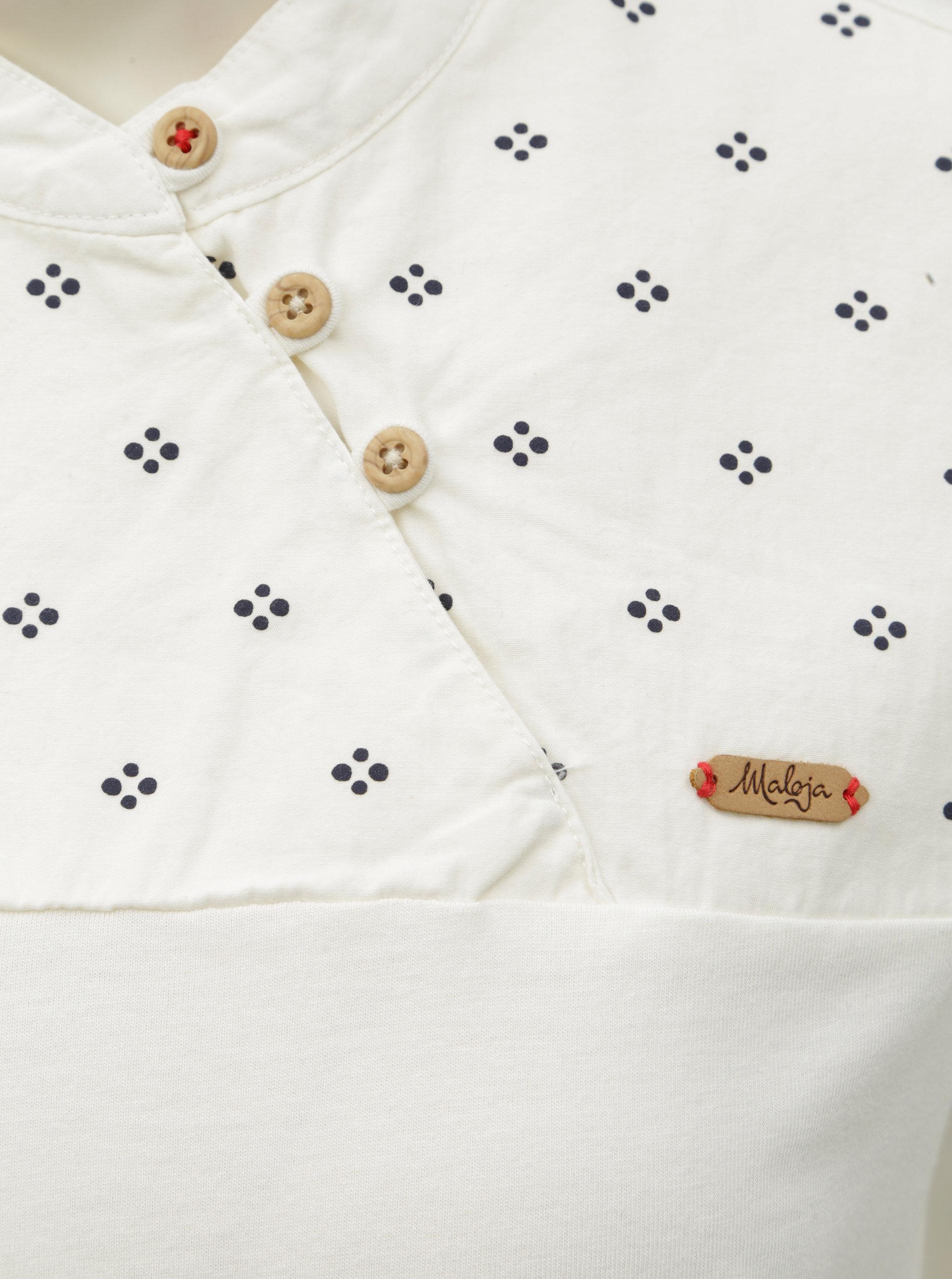 ce8c2e4cab4c Krémové dámske tričko s gombíkmi a dlhým rukávom Maloja Vauglia ...