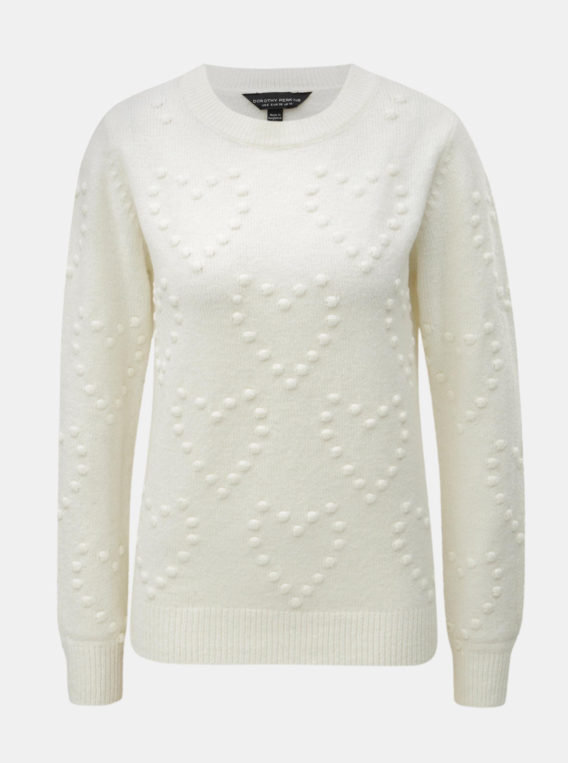398bbce0809 Krémový svetr s plastickým vzorem Dorothy Perkins ...