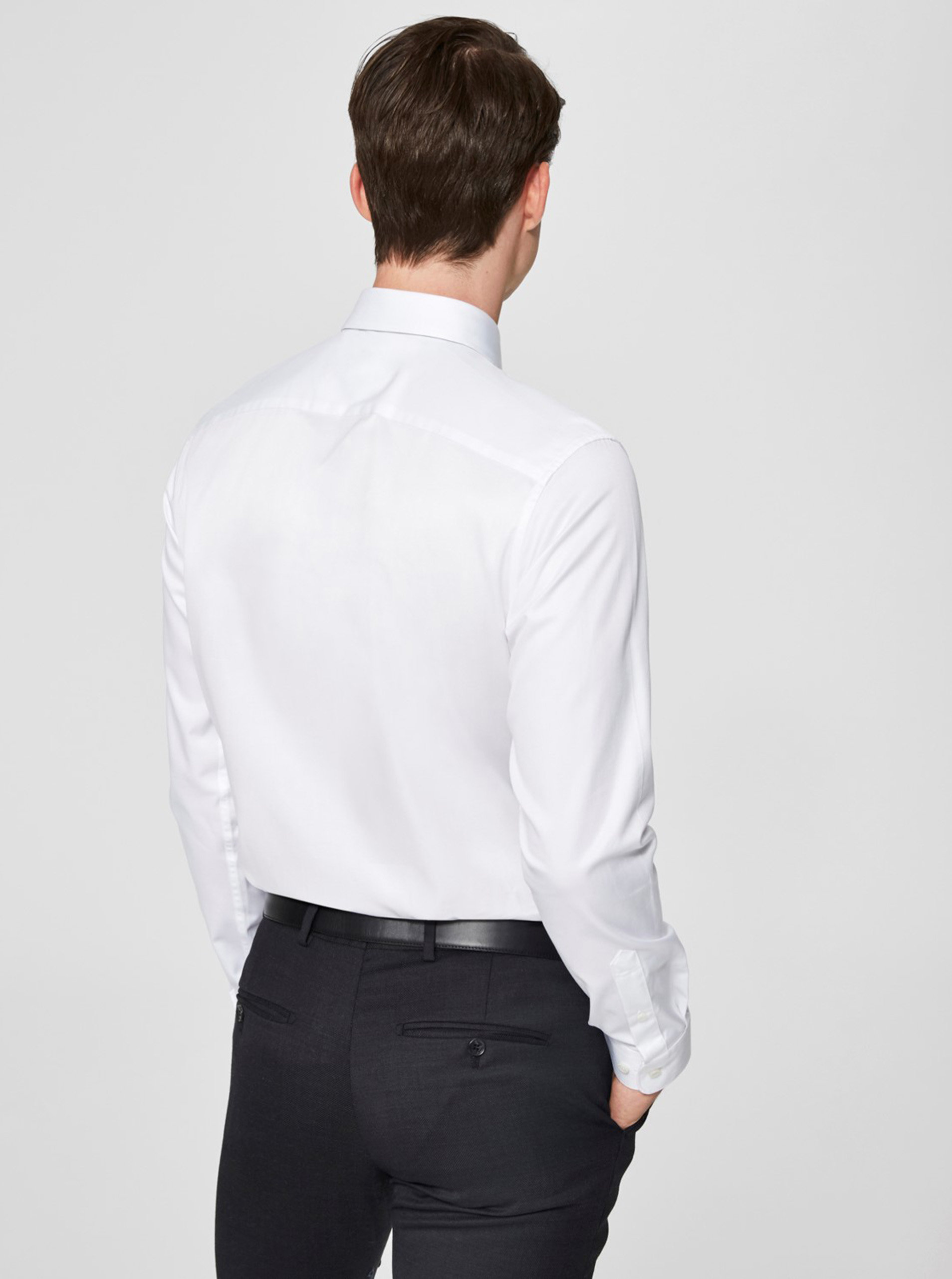 abecc638d91b Biela formálna regular fit košeľa Selected Homme Regsel ...