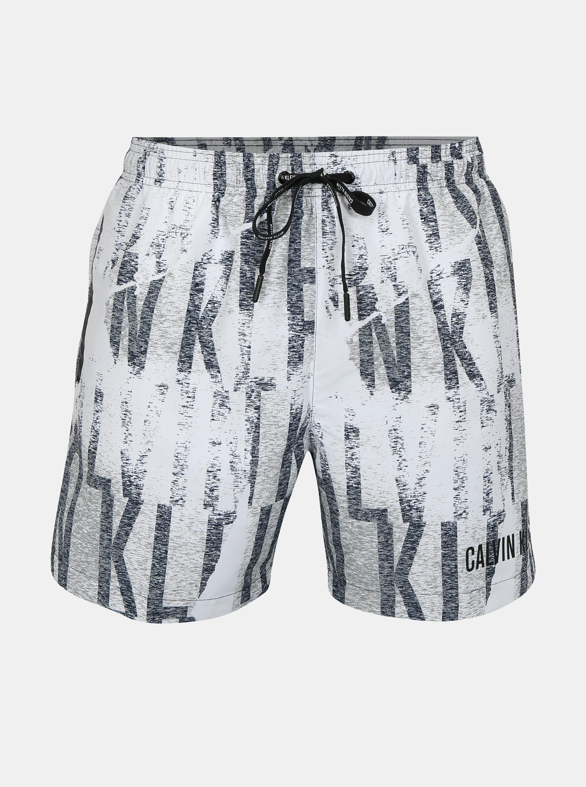 f2cea454c0abb Pantaloni scurti de baie cu print pentru barbati - Calvin Klein Underwear  ...