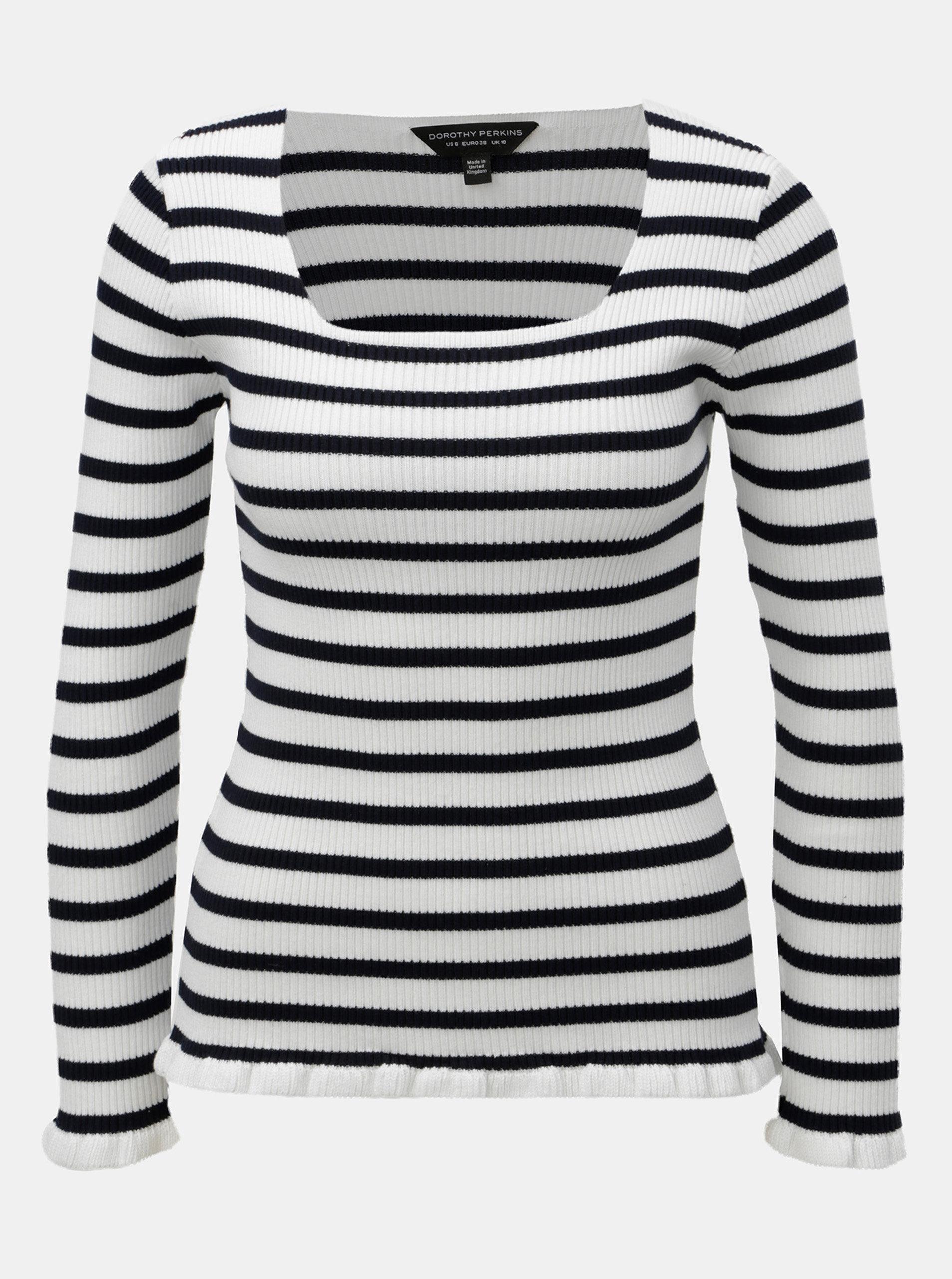 e013b2370438 Modro–biely pruhovaný tenký sveter Dorothy Perkins ...