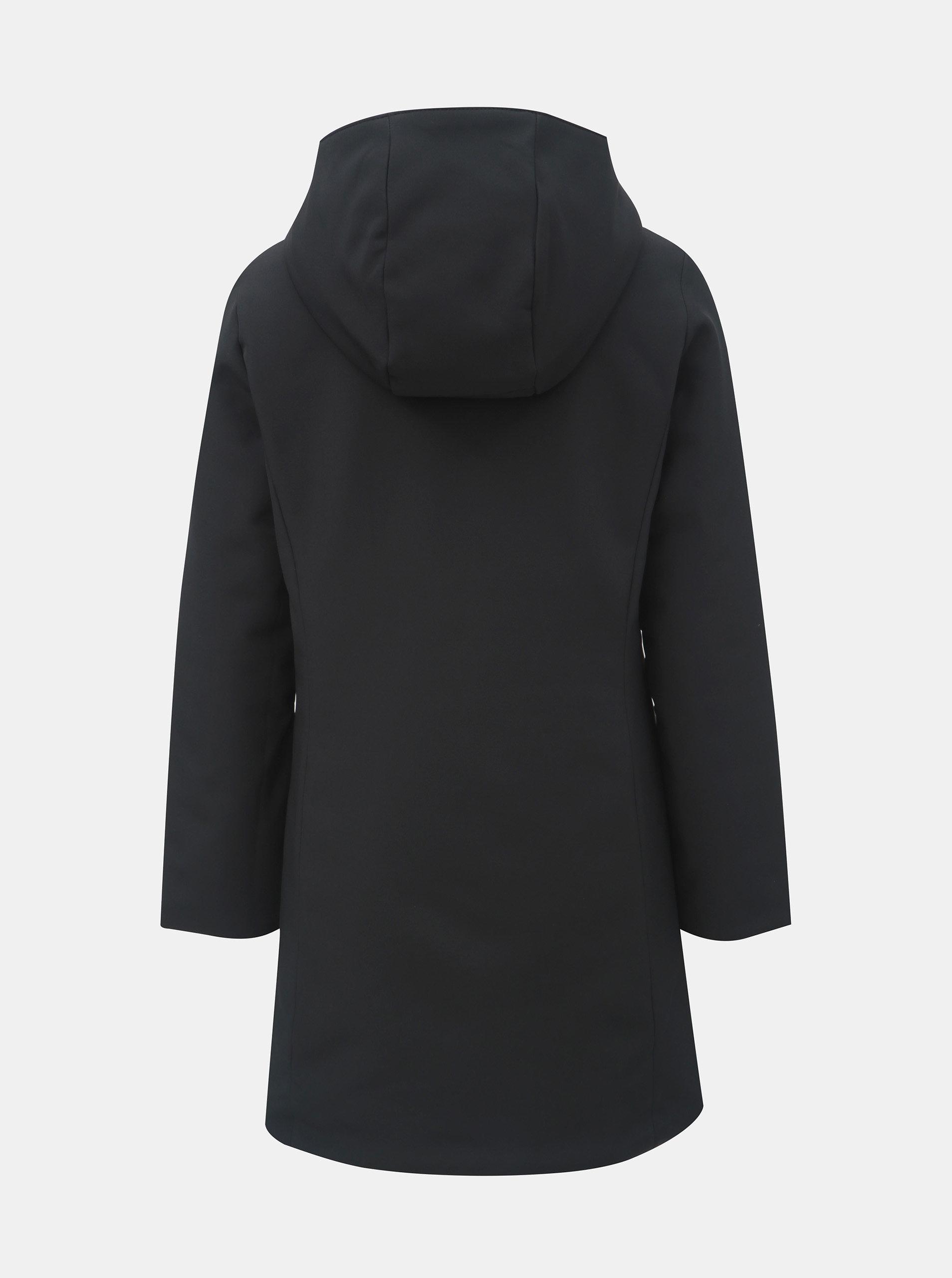 Černý oboustranný kabát s kapucí VERO MODA Reversible ... 7d5c780b663