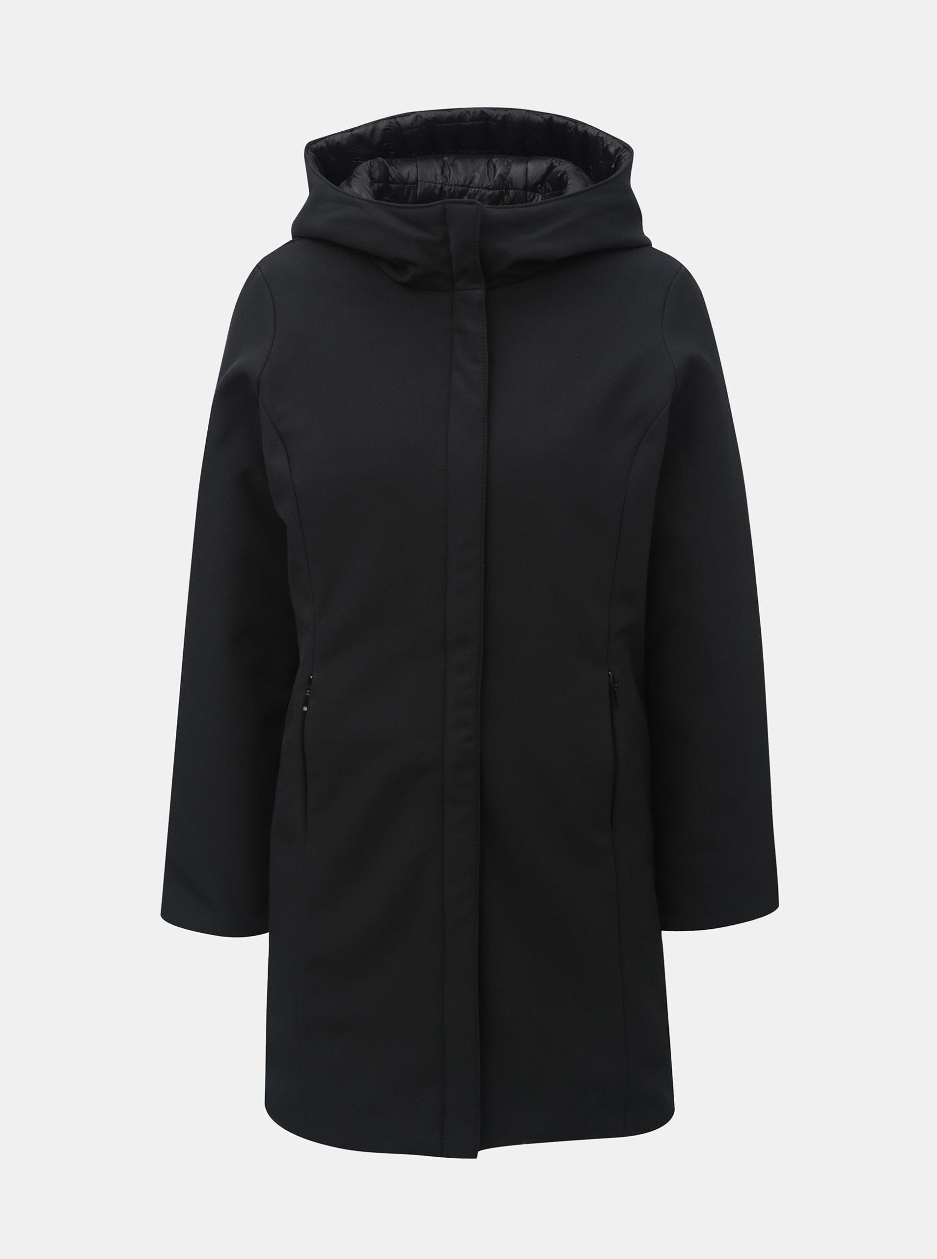 Černý oboustranný kabát s kapucí VERO MODA Reversible ... 2a6011750d9