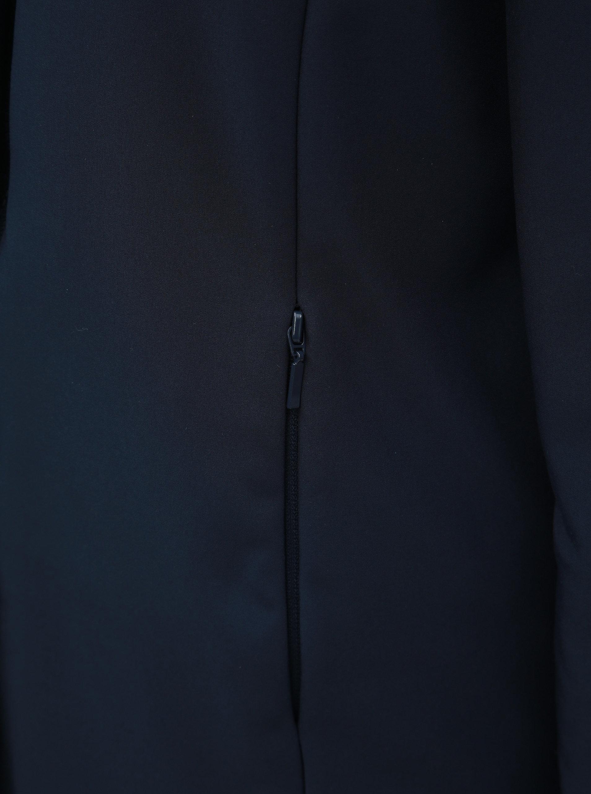Tmavě modrý oboustranný kabát s kapucí VERO MODA Reversible ... 96c7568d7e8