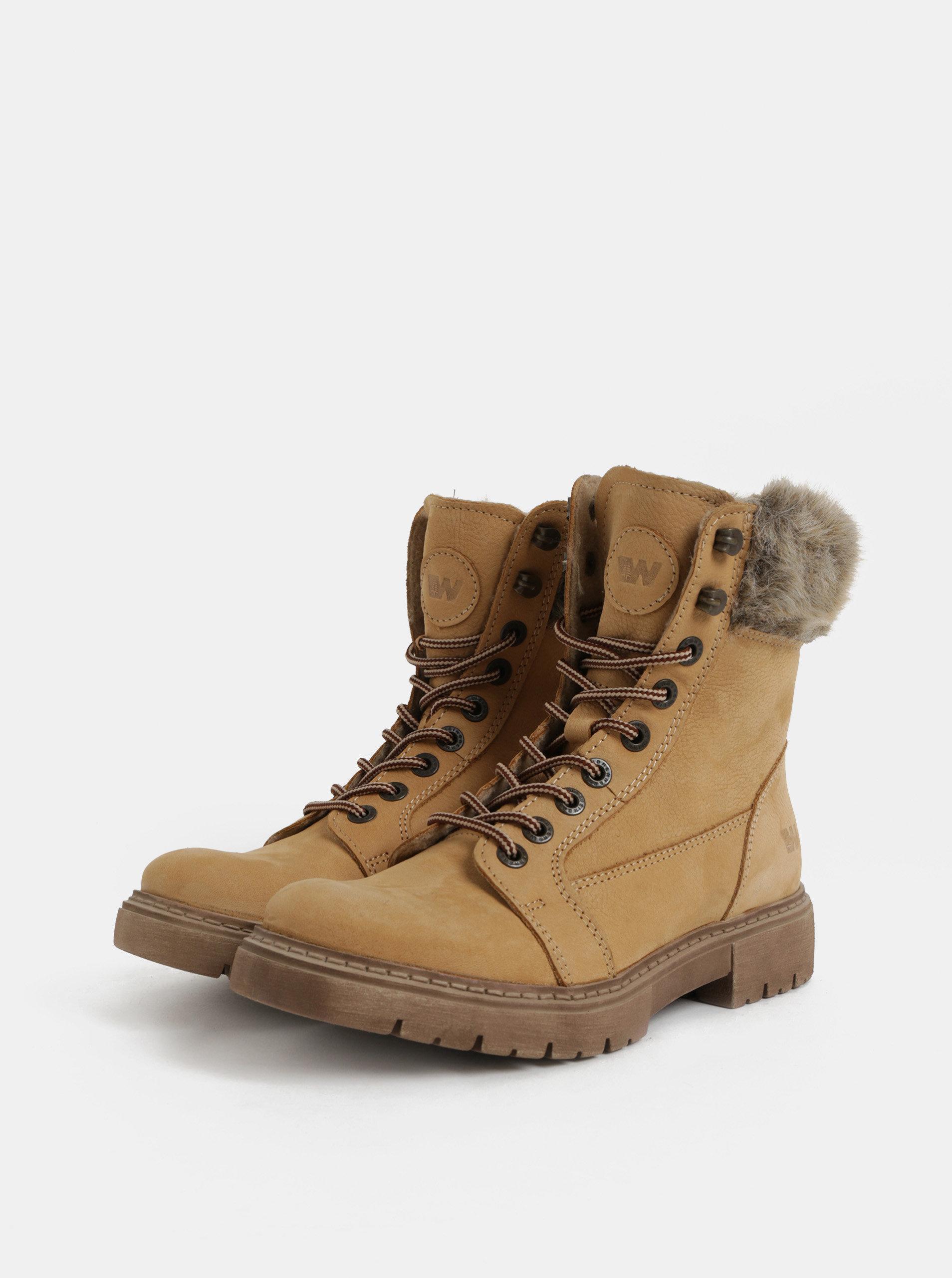 43a9f1f1d7e70 Svetlohnedé dámske zimné kožené členkové topánky Weinbrenner | ZOOT.sk