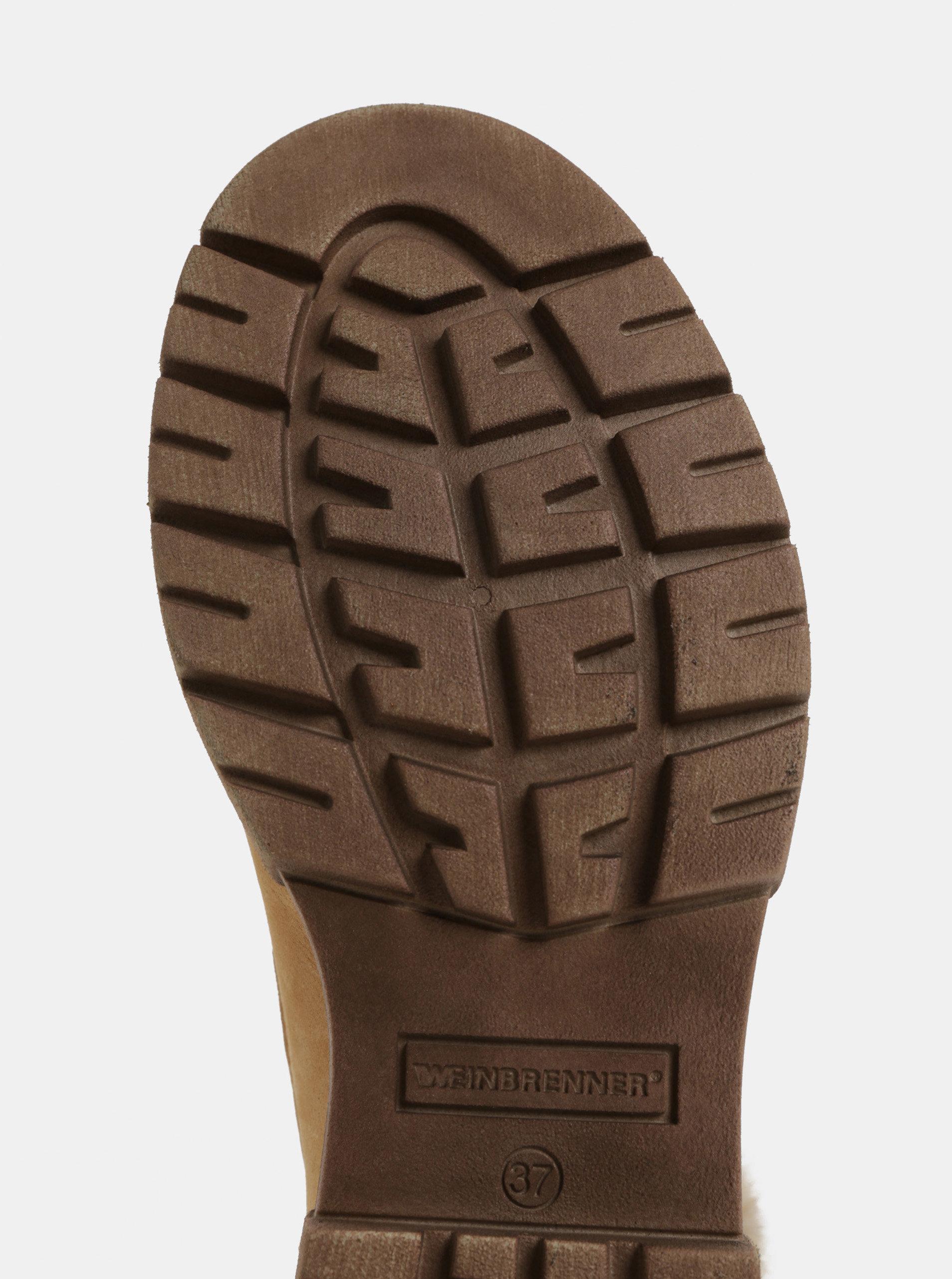 9e7df723abe9 Svetlohnedé dámske zimné kožené členkové topánky Weinbrenner ...