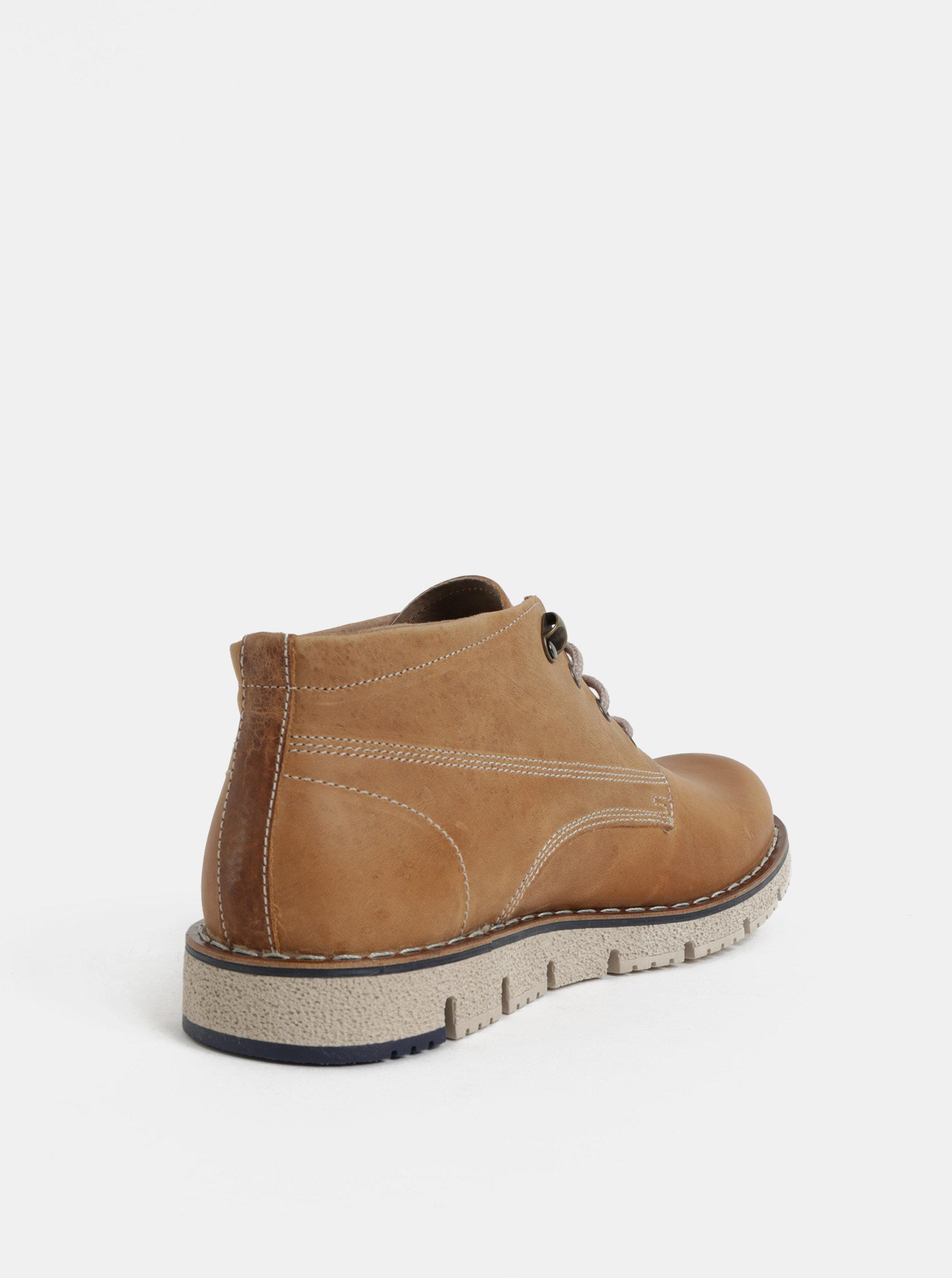 5894d230566 Světle hnědé pánské kožené kotníkové boty Weinbrenner ...
