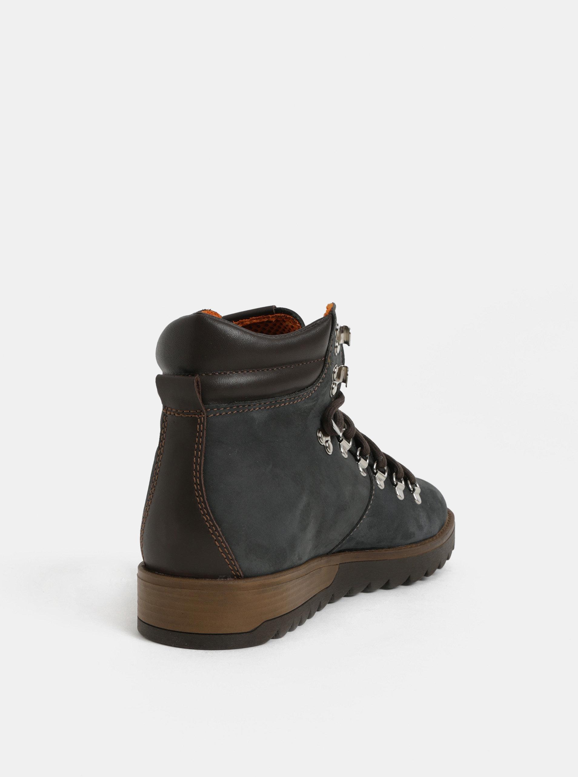 670facc822 Tmavě modré pánské kožené kotníkové boty Weinbrenner ...