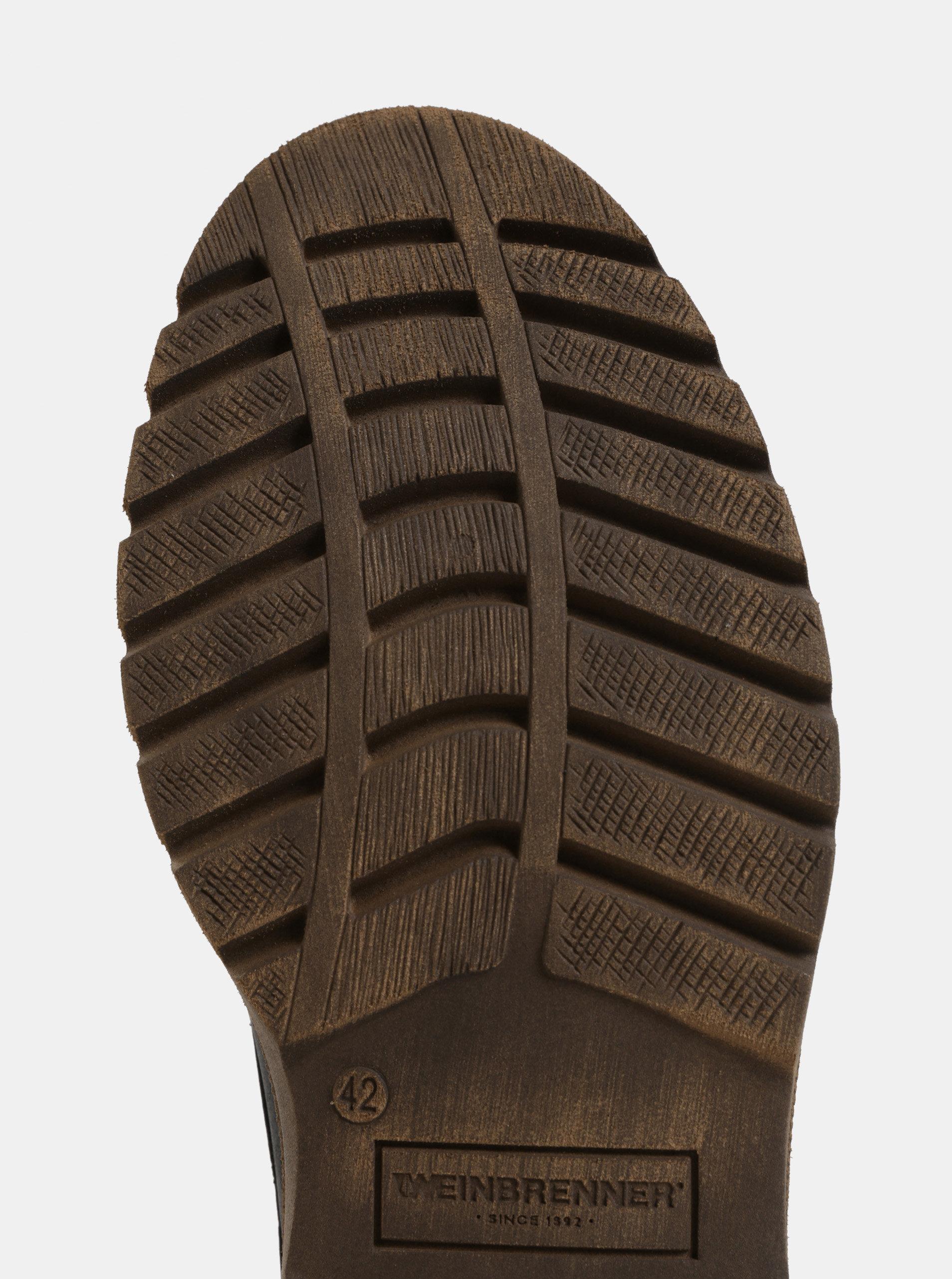 Čierne pánske kožené členkové zimné topánky Weinbrenner ... 95a085436ee