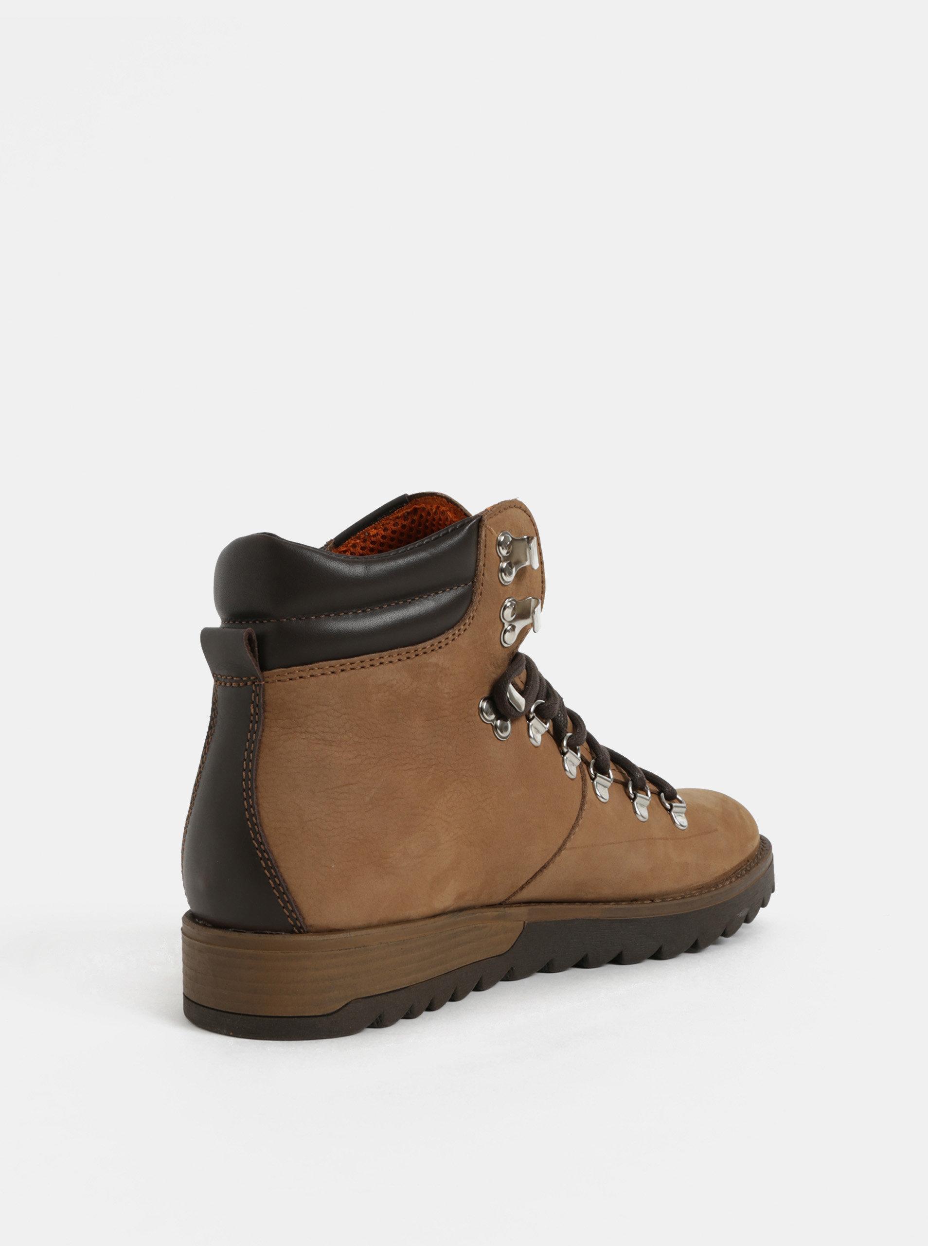 1a79244adb Hnědé pánské kožené kotníkové boty Weinbrenner ...
