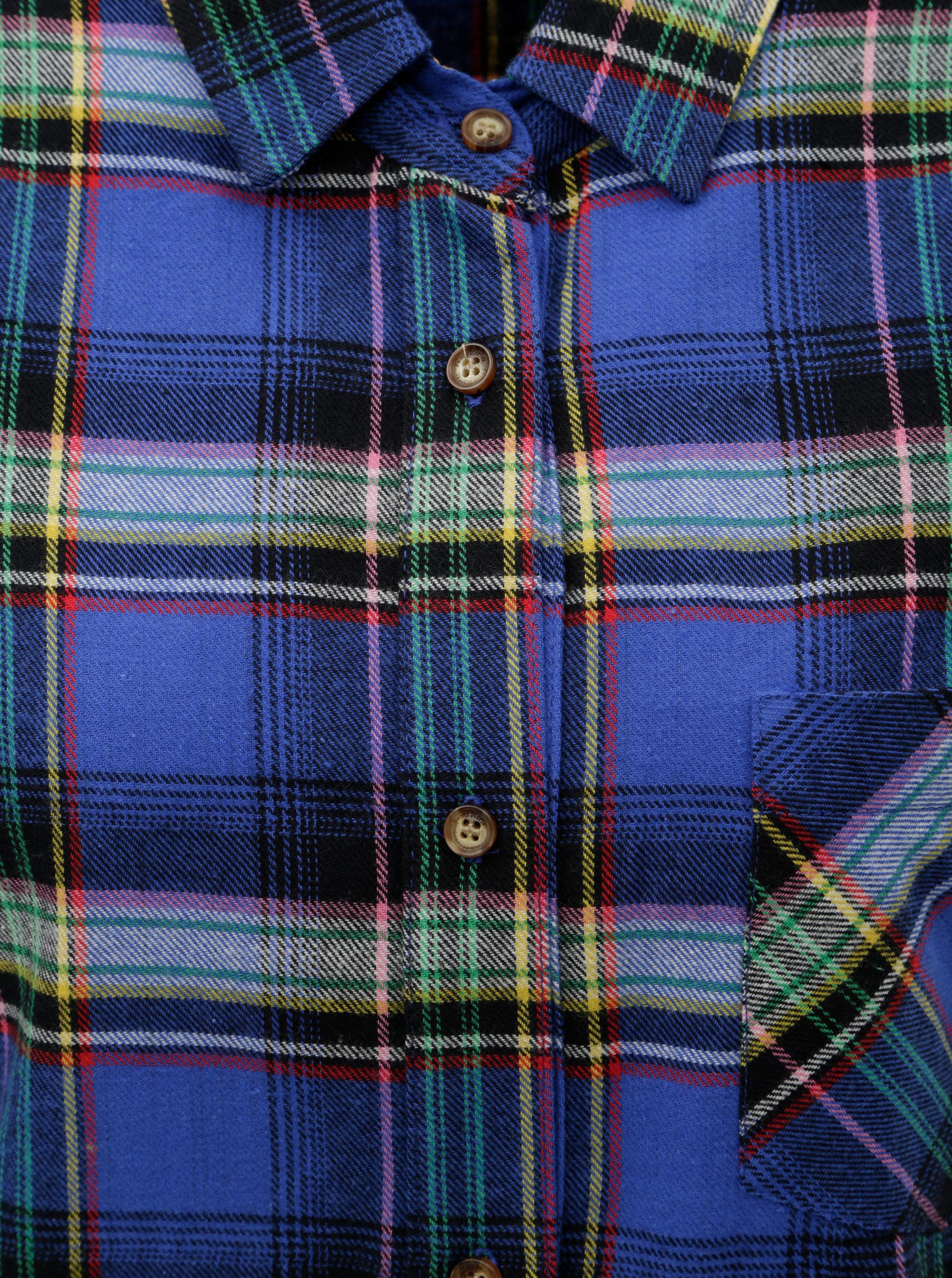 37ad1ad721c8 Tmavomodré kárované košeľové šaty Femi Stories ...