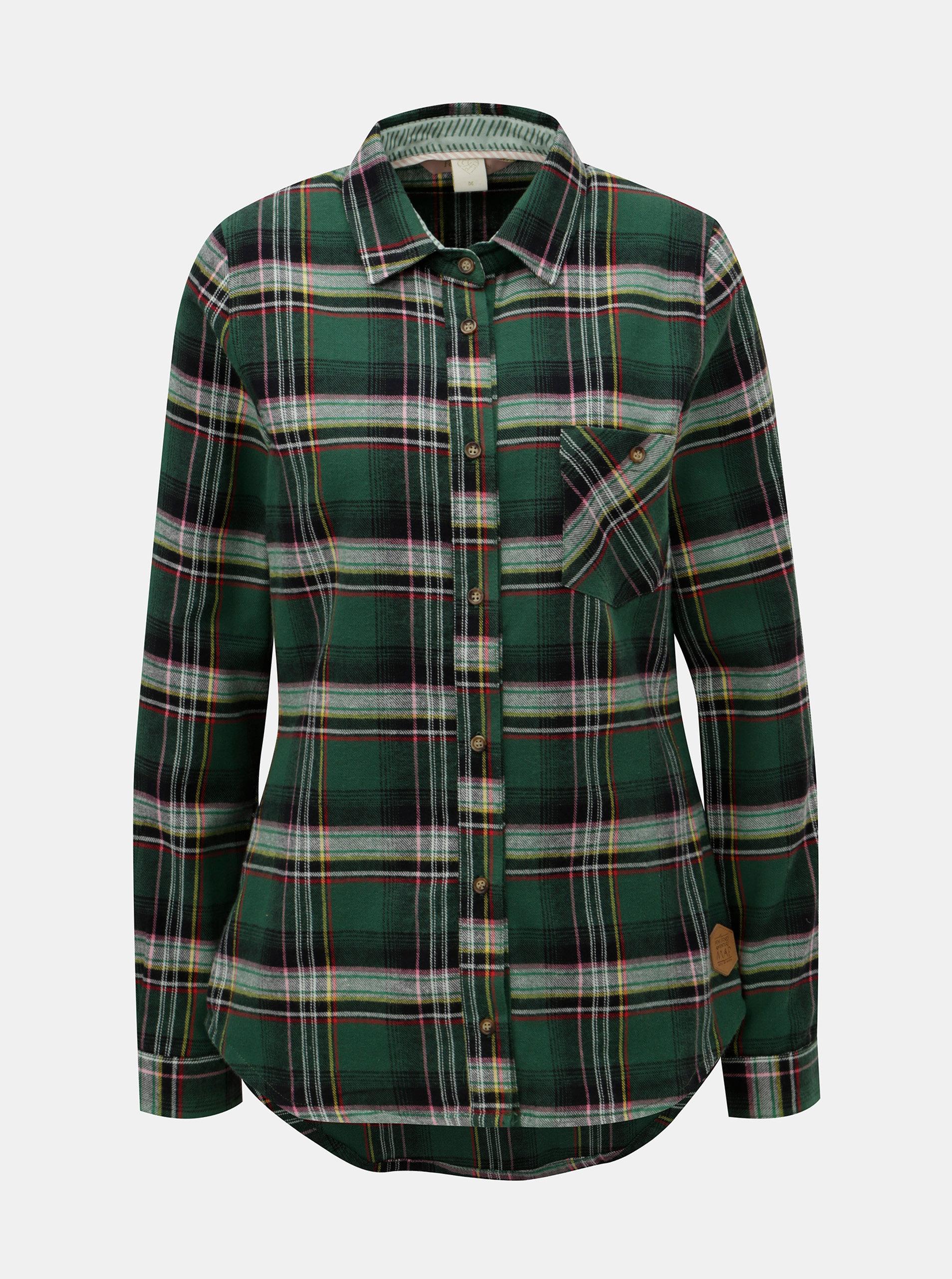 Zelená kostkovaná košile Femi Stories ... 86834d5552